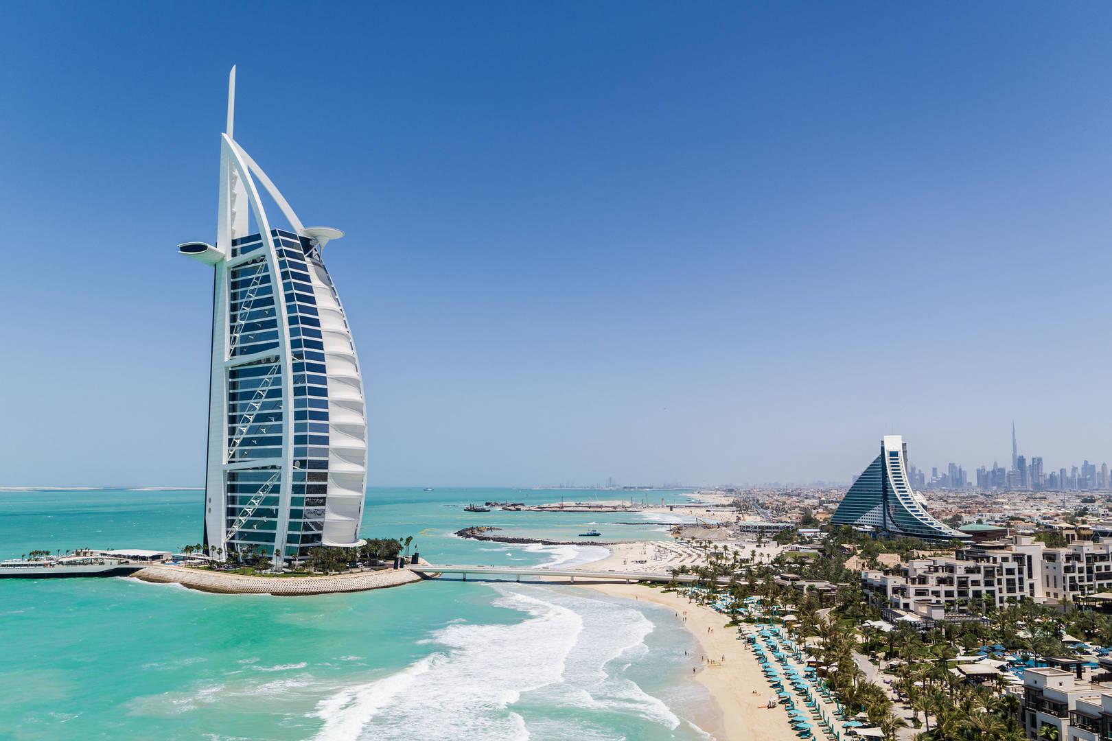 Burj Al Arab Jumeirah Jumeirah Beach Hotel Jumeirah Al Naseem Private Beach Drone