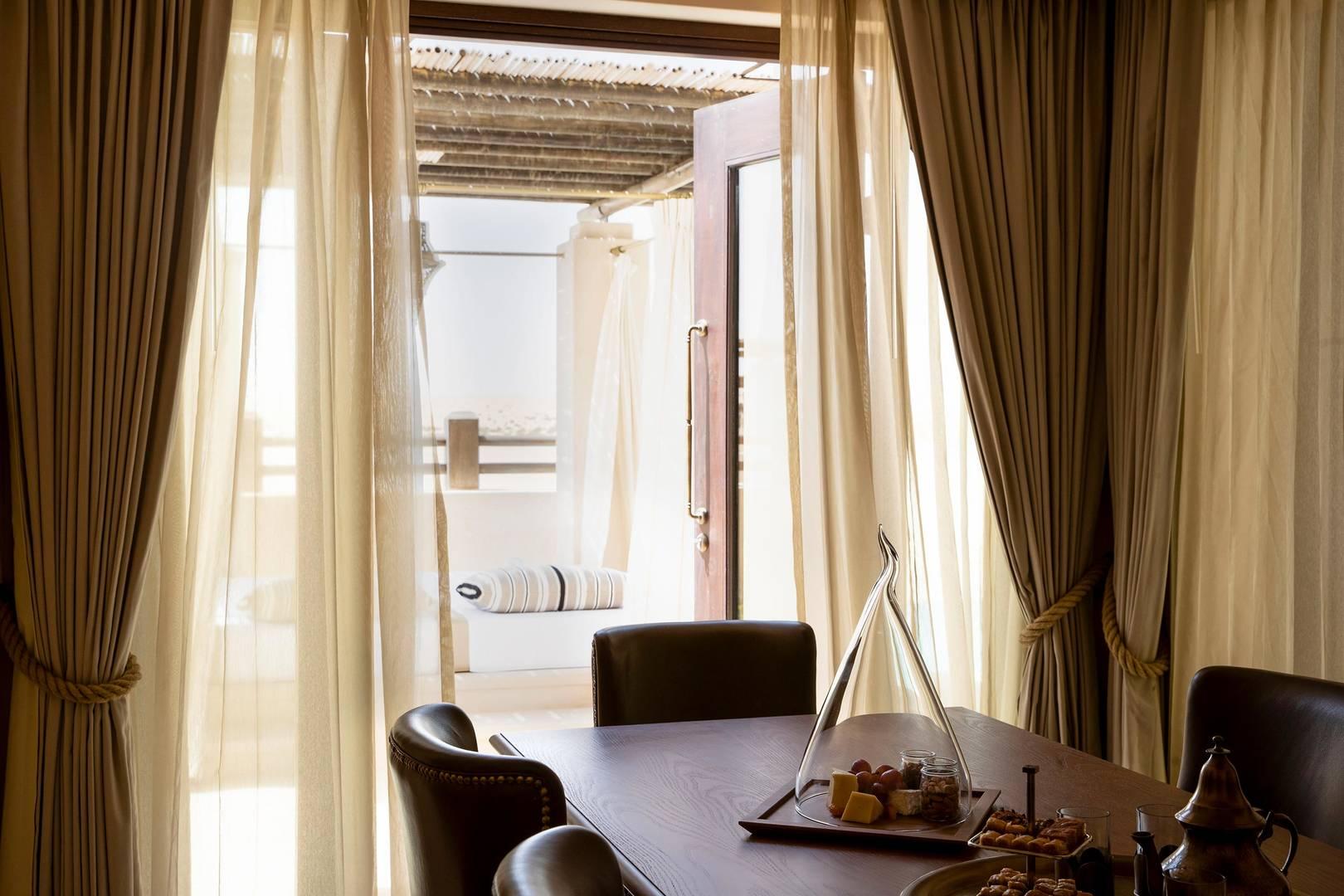 View of the dining room of One Bedroom Villa at Jumeirah Al Wathba Desert Resort & Spa