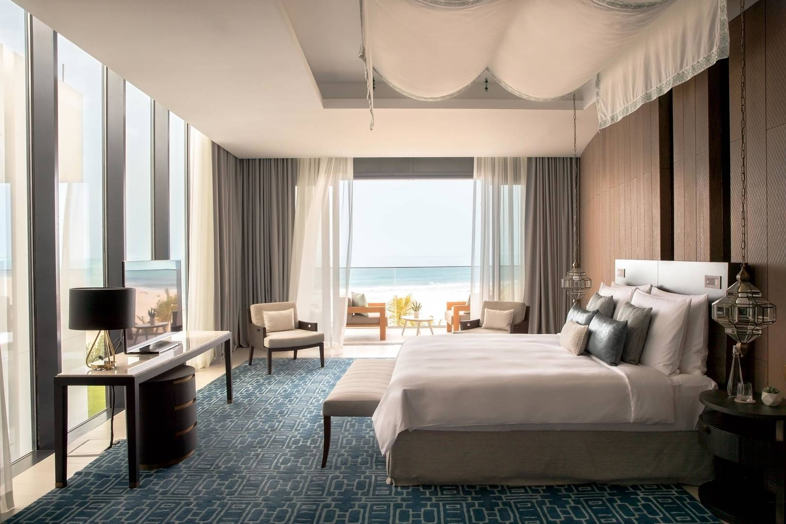 View at the bedroom of the Three Bedrooms Villa at Jumeirah Saadiyat Island Resort