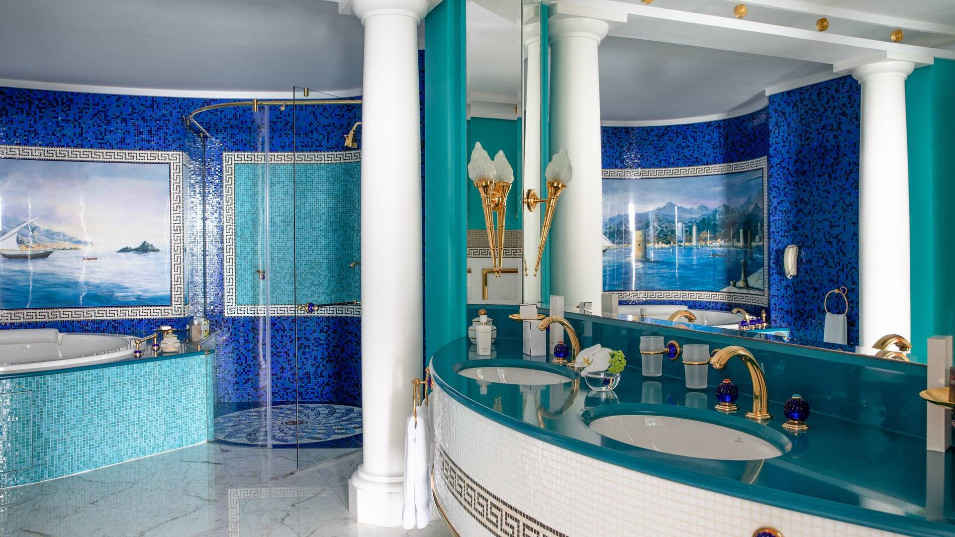 Jumeirah Burj Al Arab two bedroom family suite bathroom
