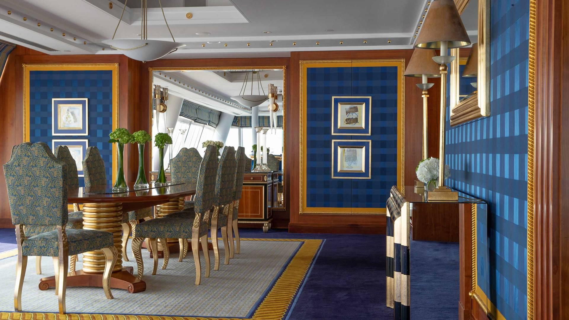Jumeirah Burj Al Arab Diplomatic three bedroom suite Dining room
