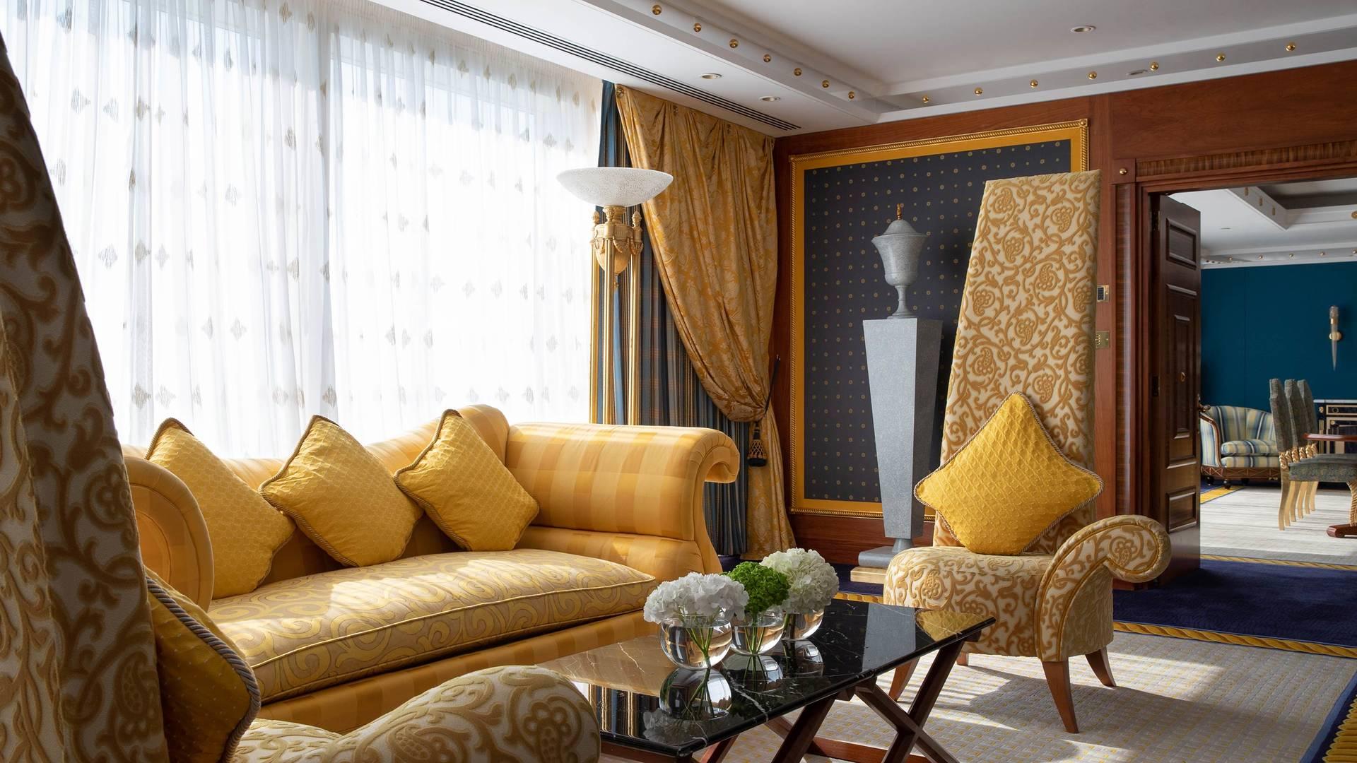 Jumeirah Burj Al Arab Presidential suite living room detail_16-9