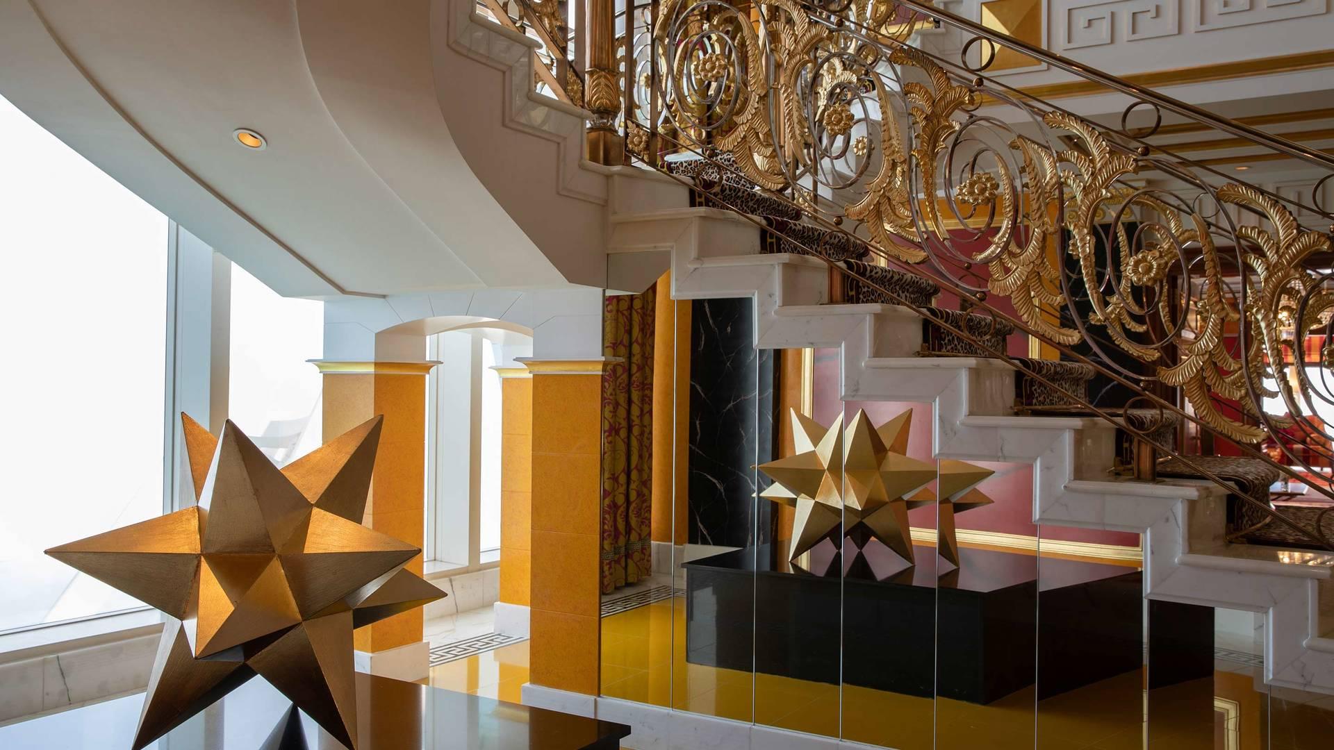 Jumeirah Burj Al Arab royal suite staircase detail_16-9