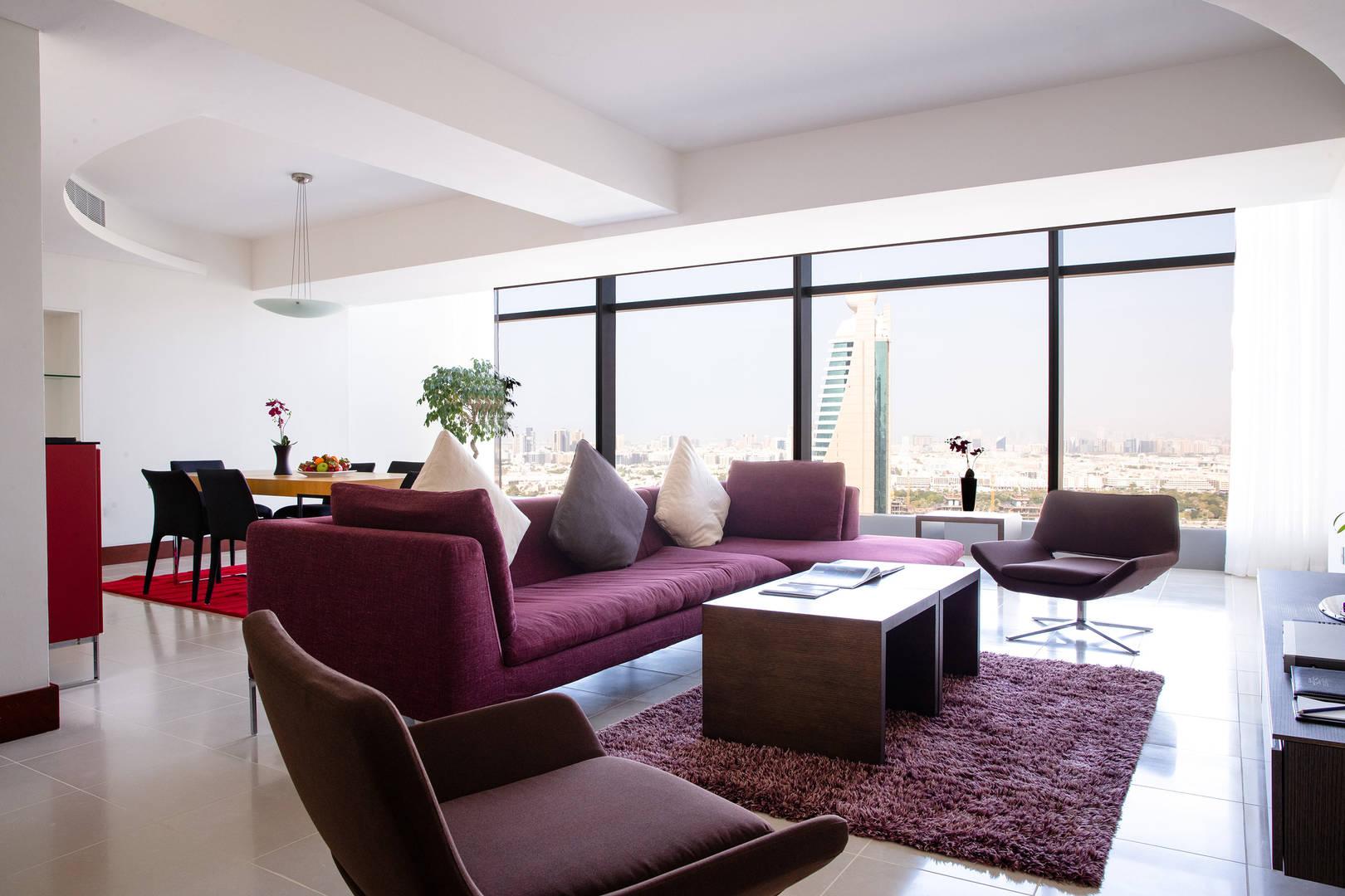 Interior of the Two Bedroom Duplex balcony living area