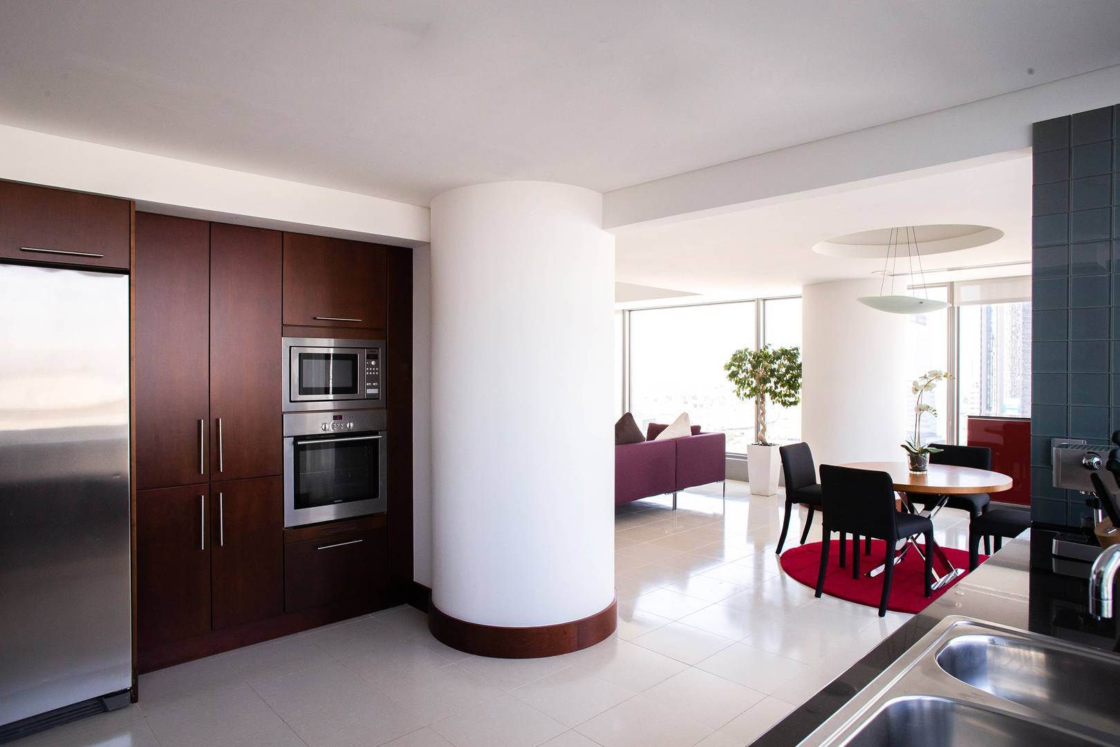 Interior of the two bedroom suite dining room at Jumeirah Living World Trade Centre