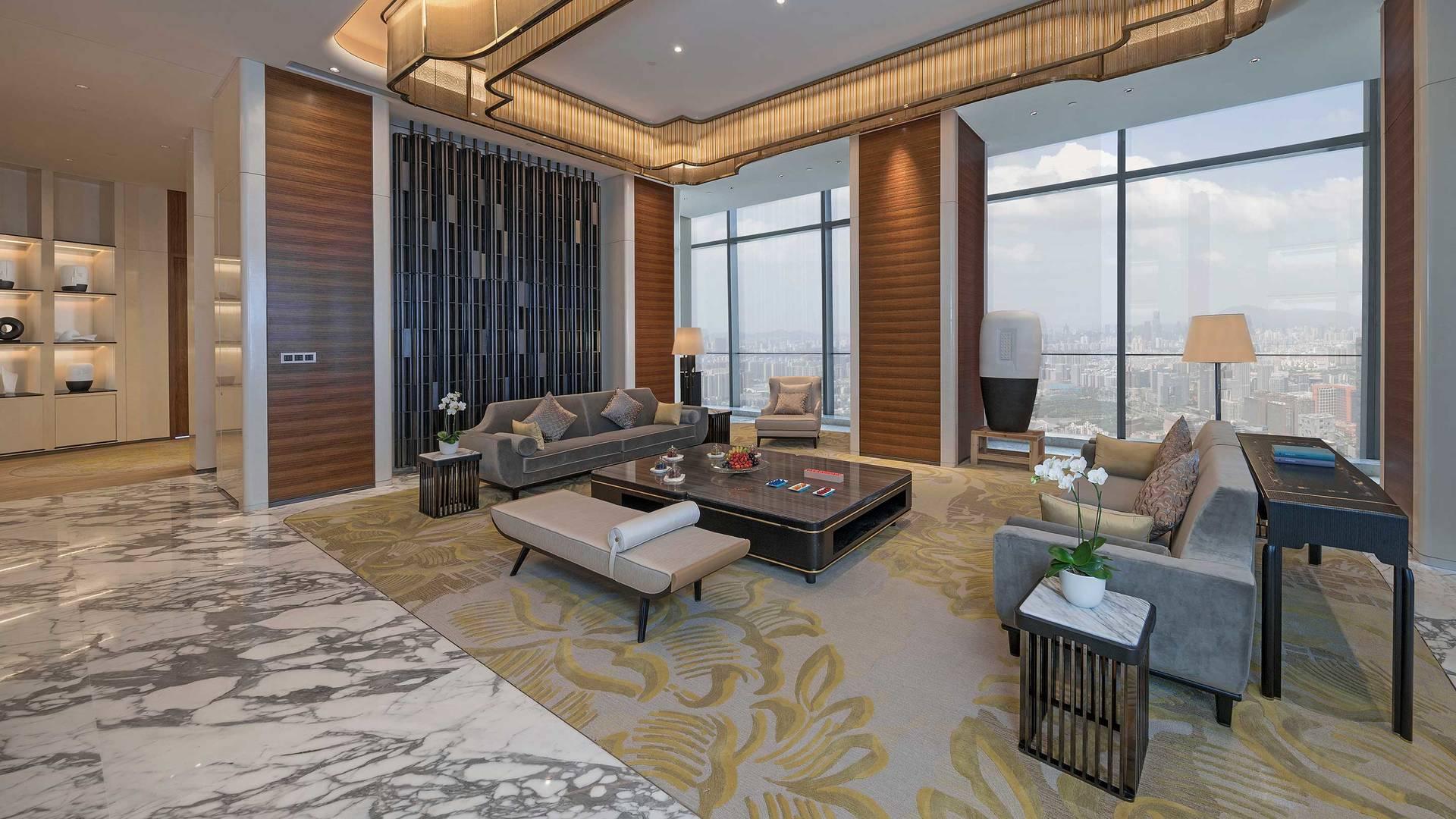 Jumeirah Nanjing Presidential suite Living room