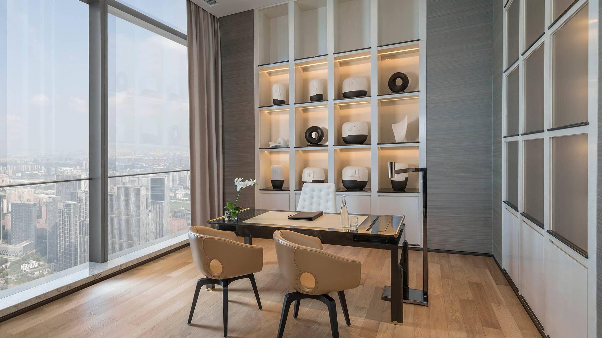 Jumeirah Nanjing Presidential suite business office_16-9
