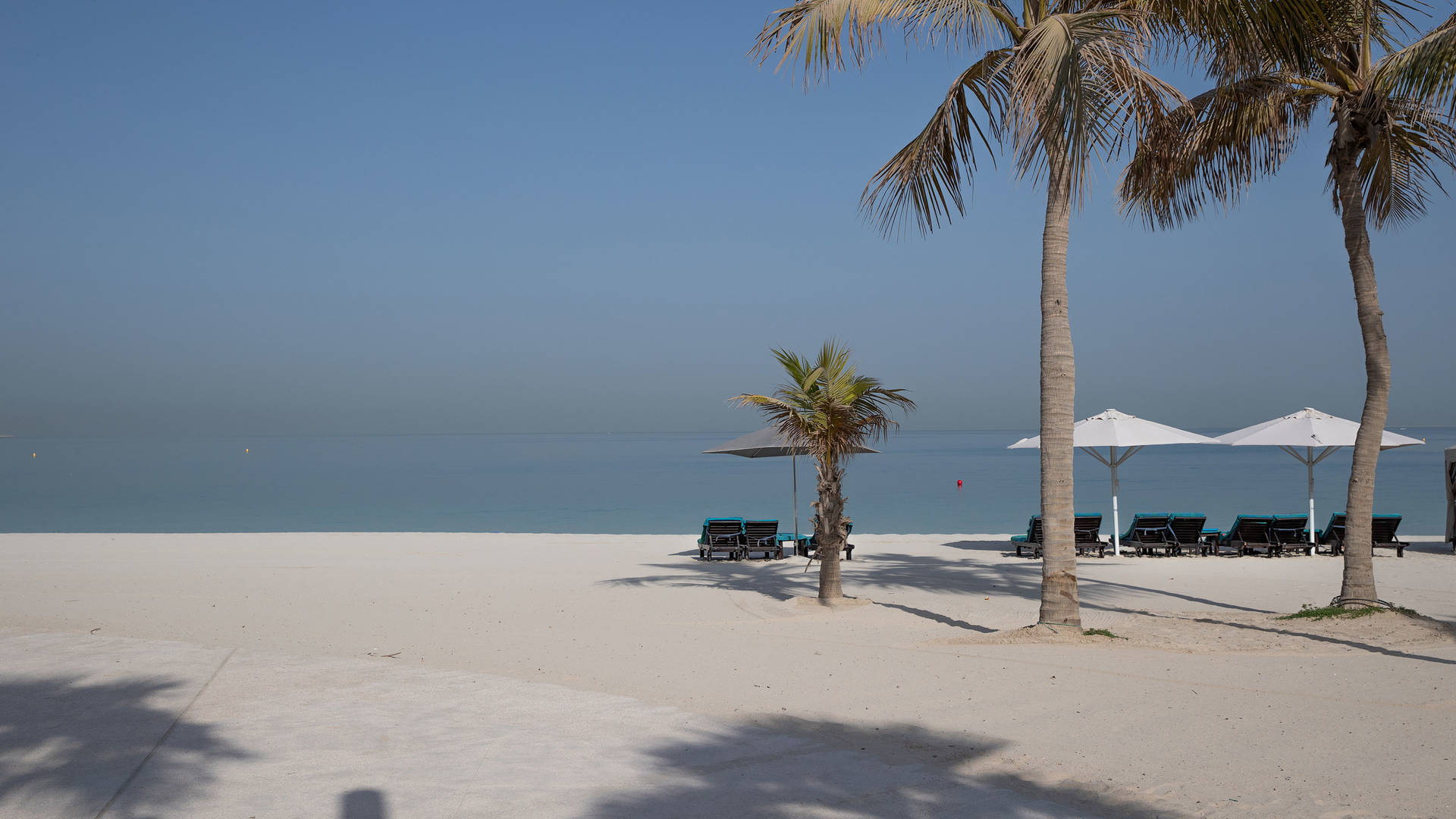 View of the beach in Dubai