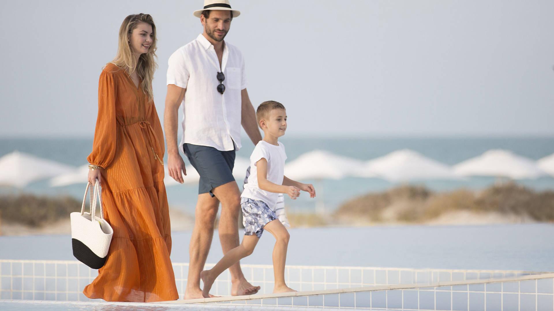 Family beach Abu Dhabi