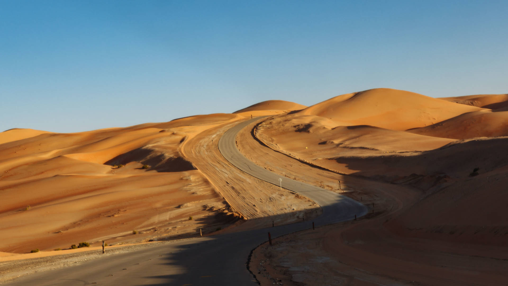 Road to the Tal Moreeb Dune in the empty quarter Abu Dhabi