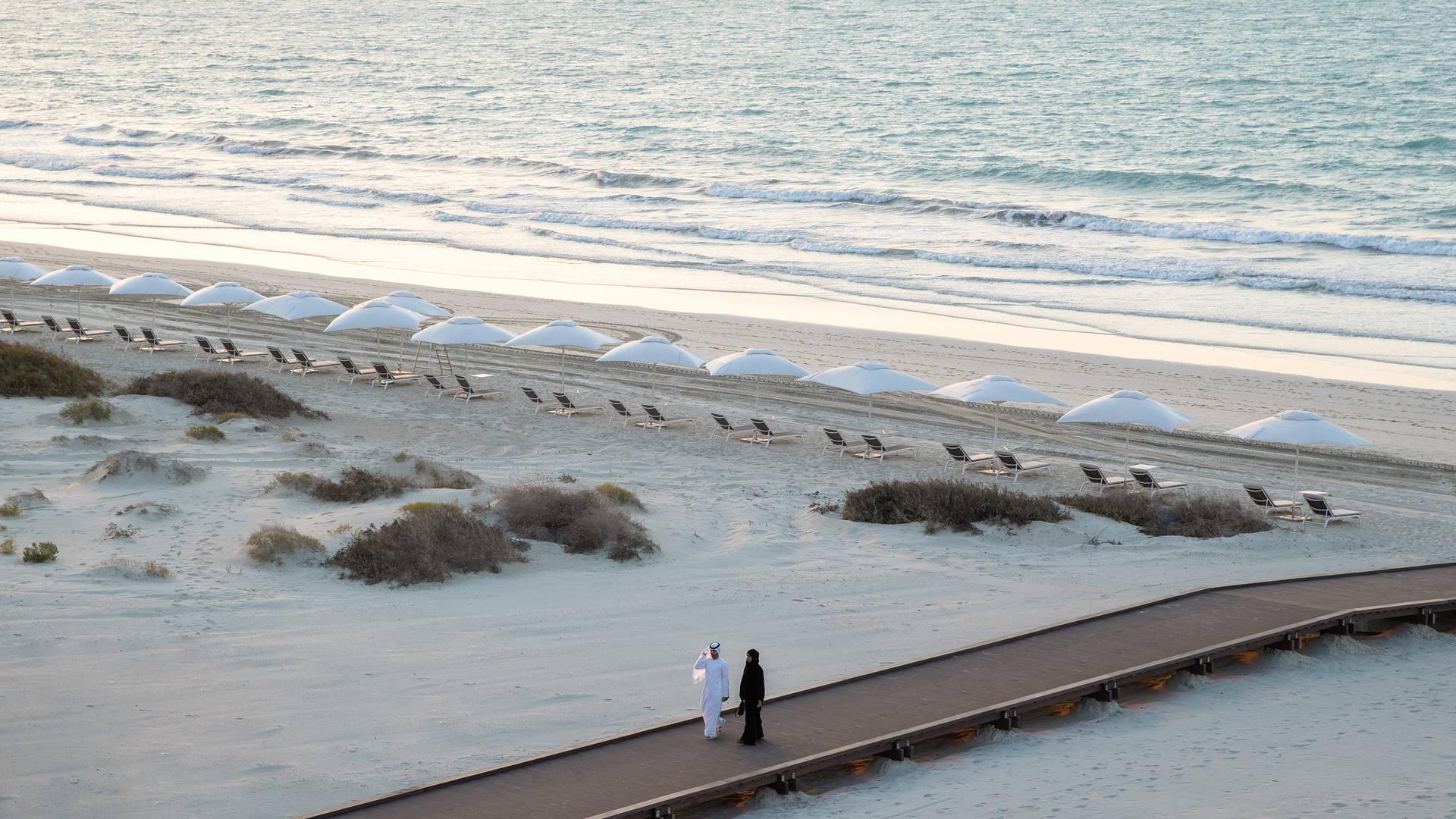 Sea view at Jumeirah at Saadiyat Island Resort