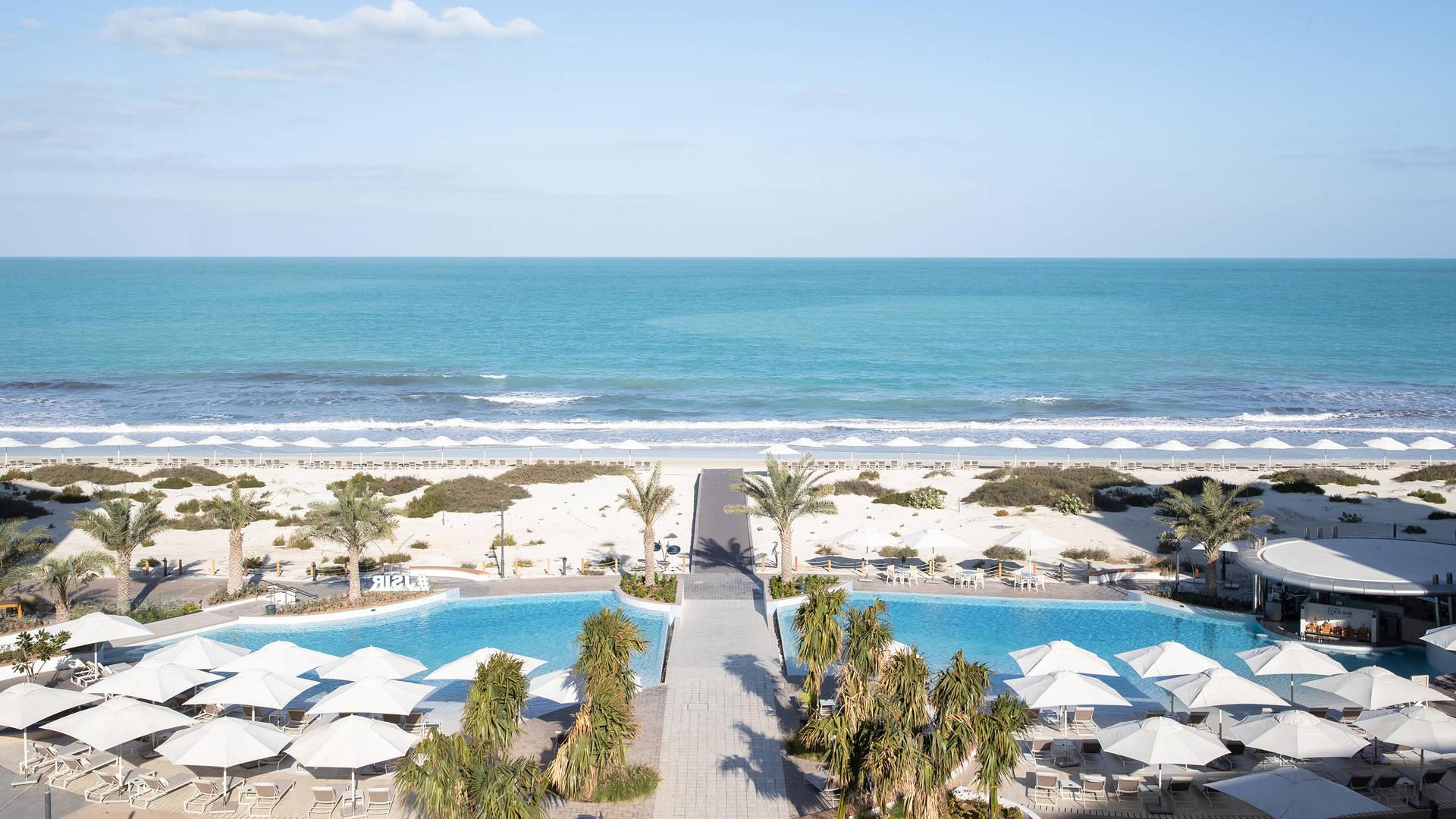 Beach view at Jumeirah at Saadiyat Island Resort