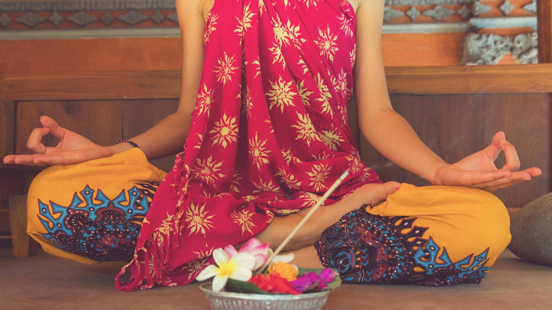 bali woman yoga zen