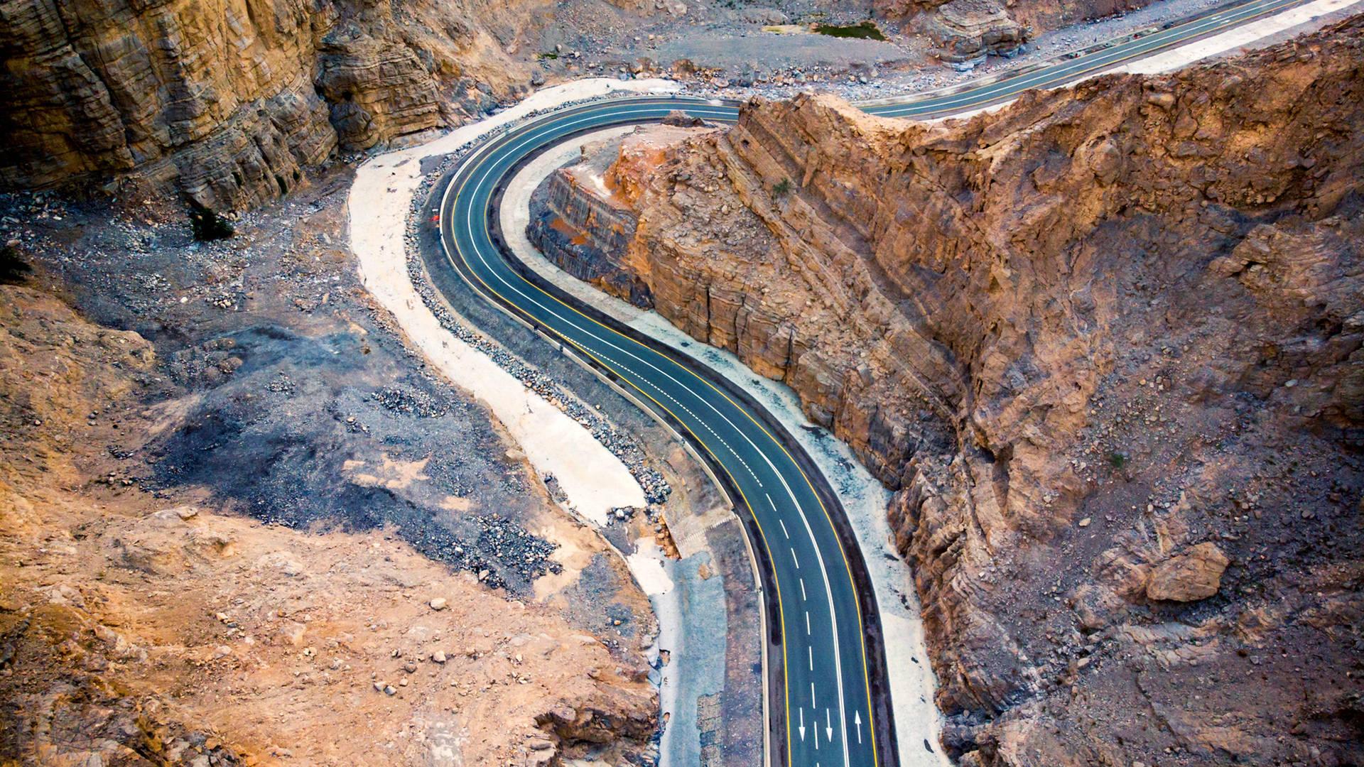 Desert road in the UAE