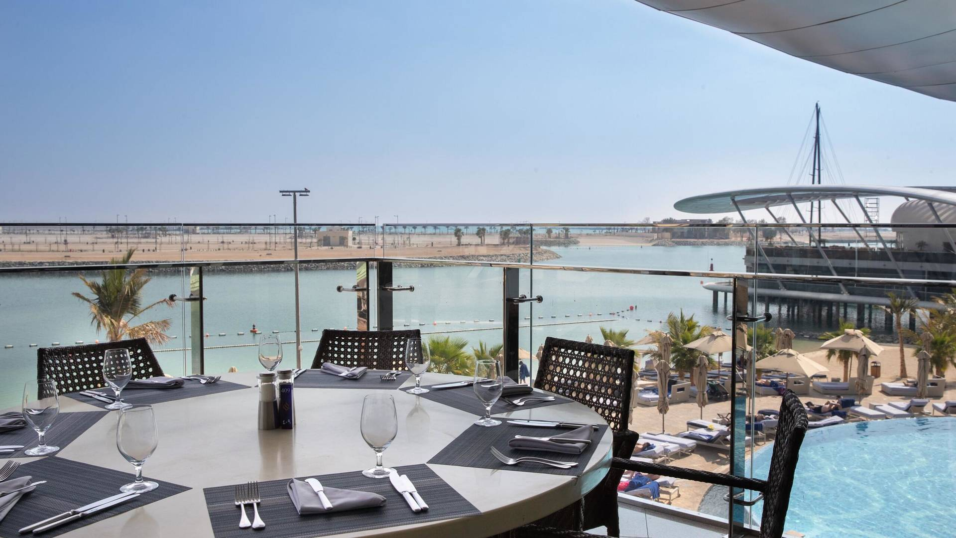 etihad tower poolside lunch abu dhabi