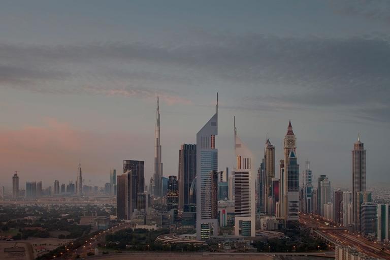 Jumeirah Emirates towers skyline