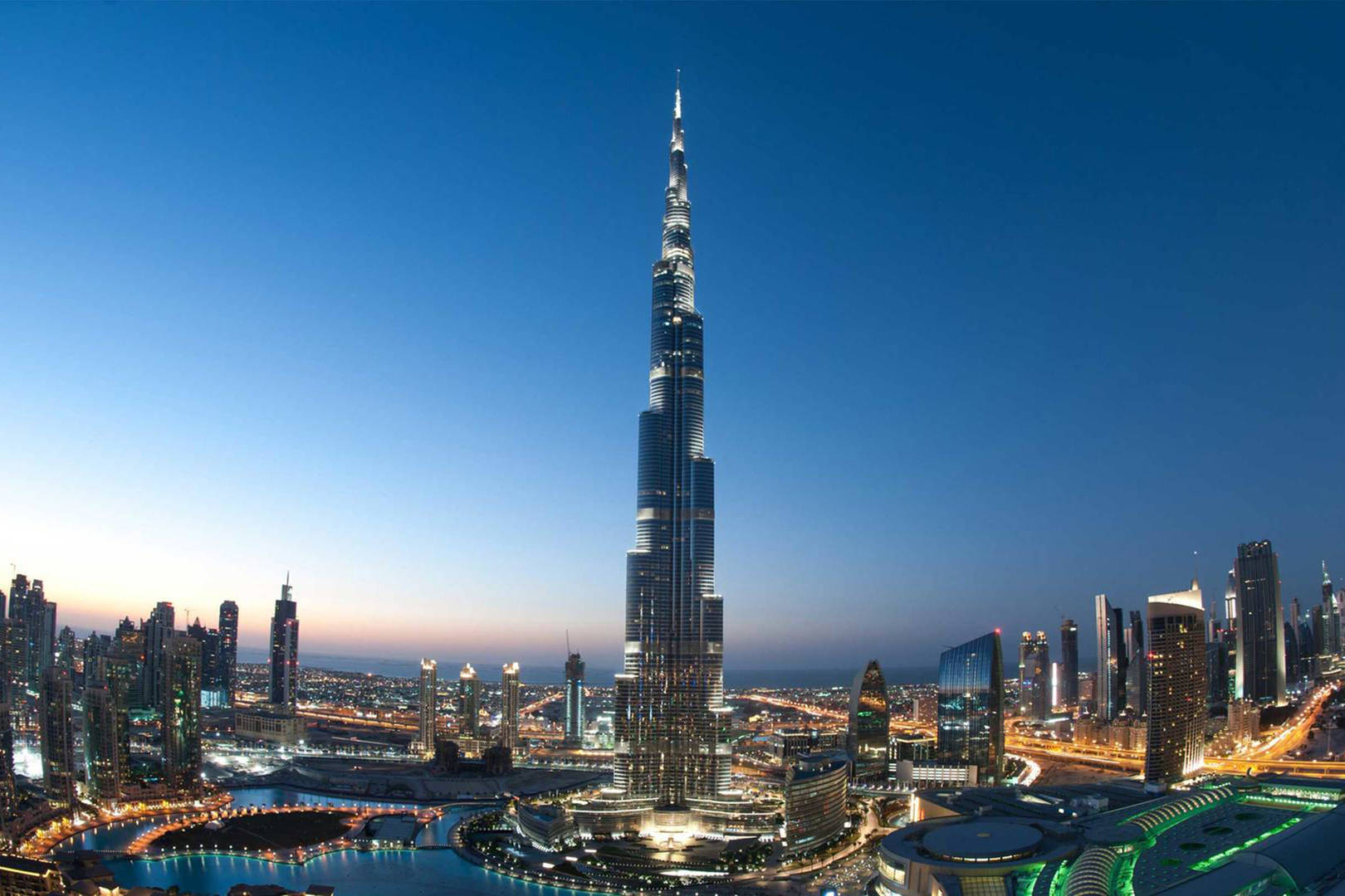 Jumeirah Aerial shot of the Burj Khalifa