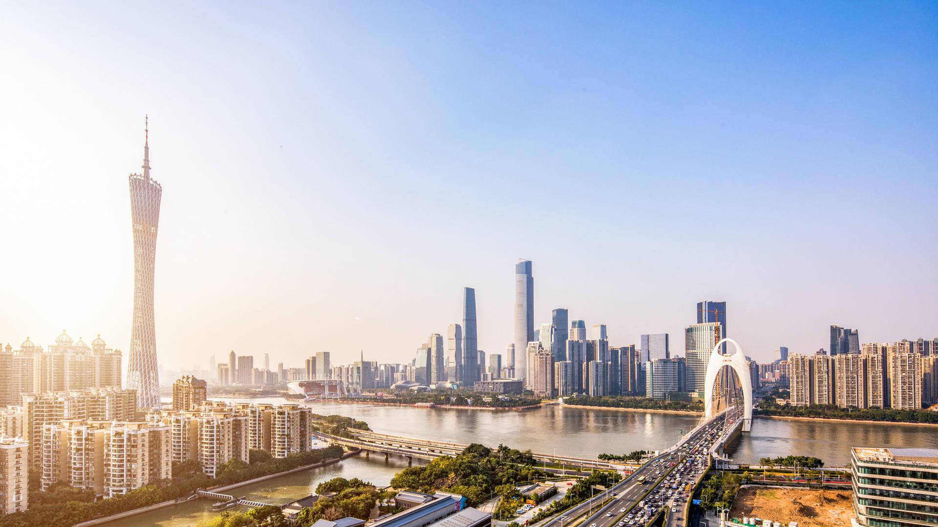 Guangzhou tower cityscape