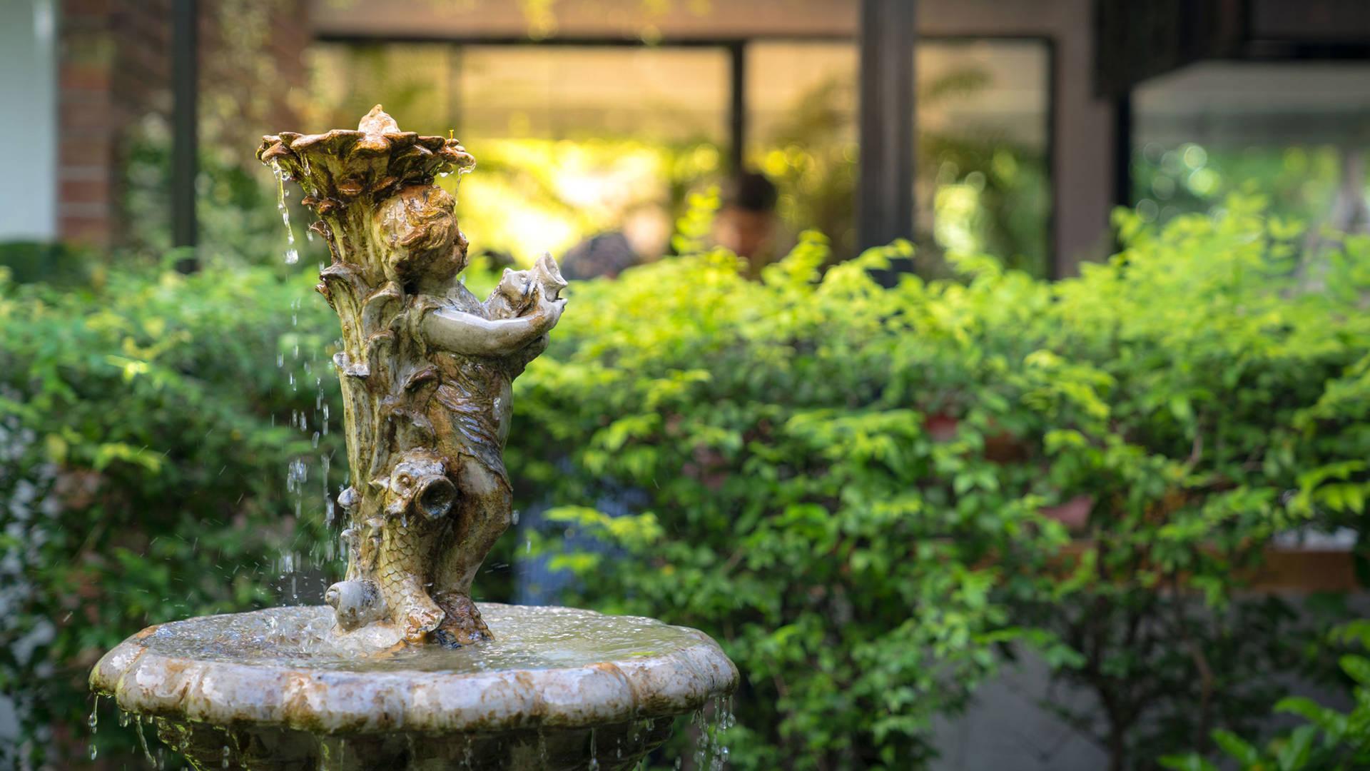 View of the fountain in Guangzhou