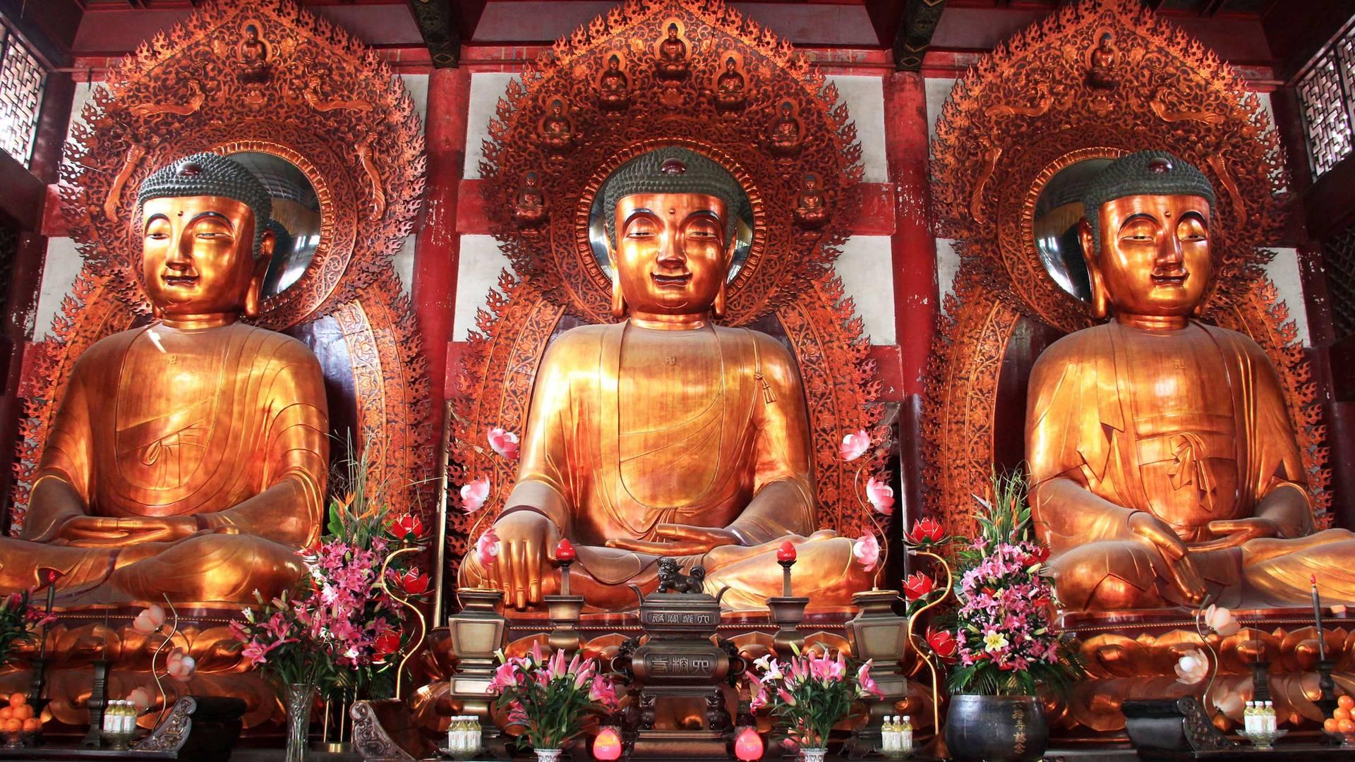 Skulptur des Buddha in Guangzhou