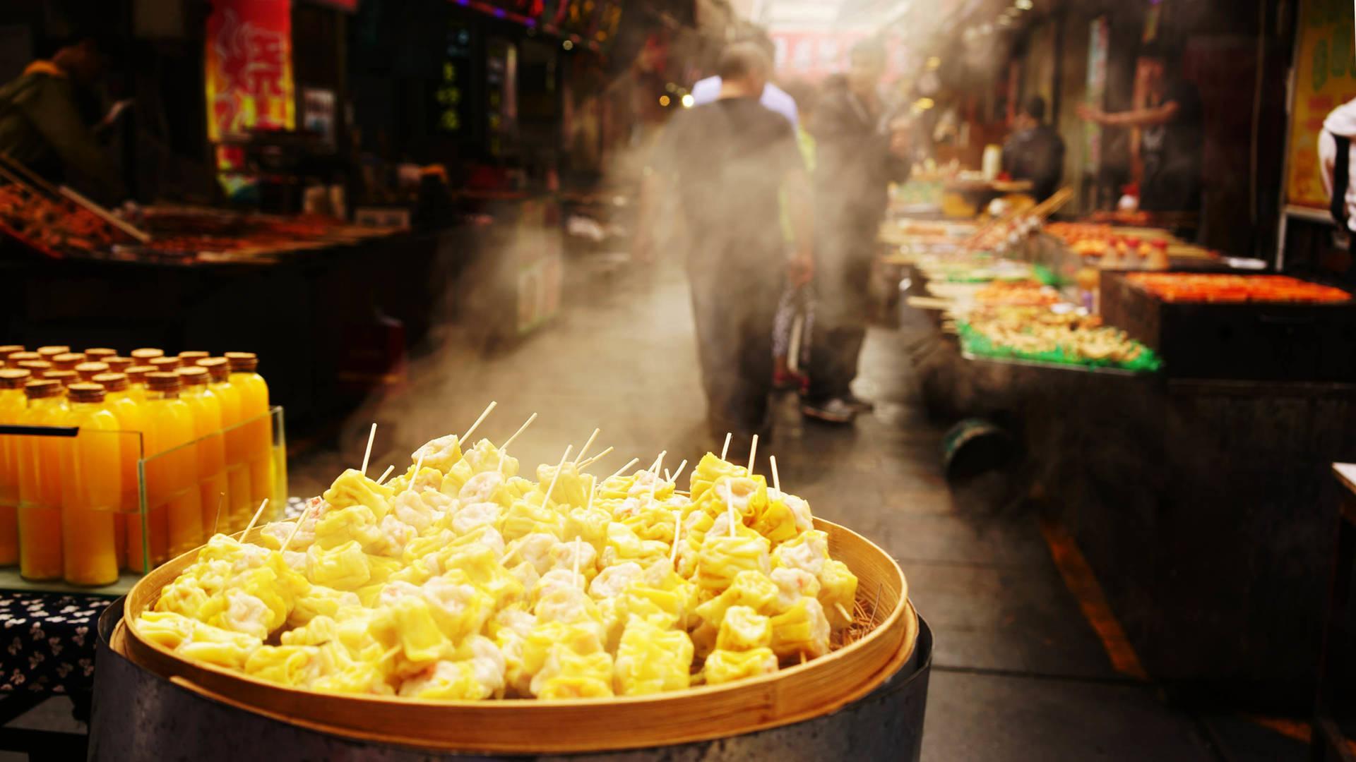 street food eat cantonese in guangzhou