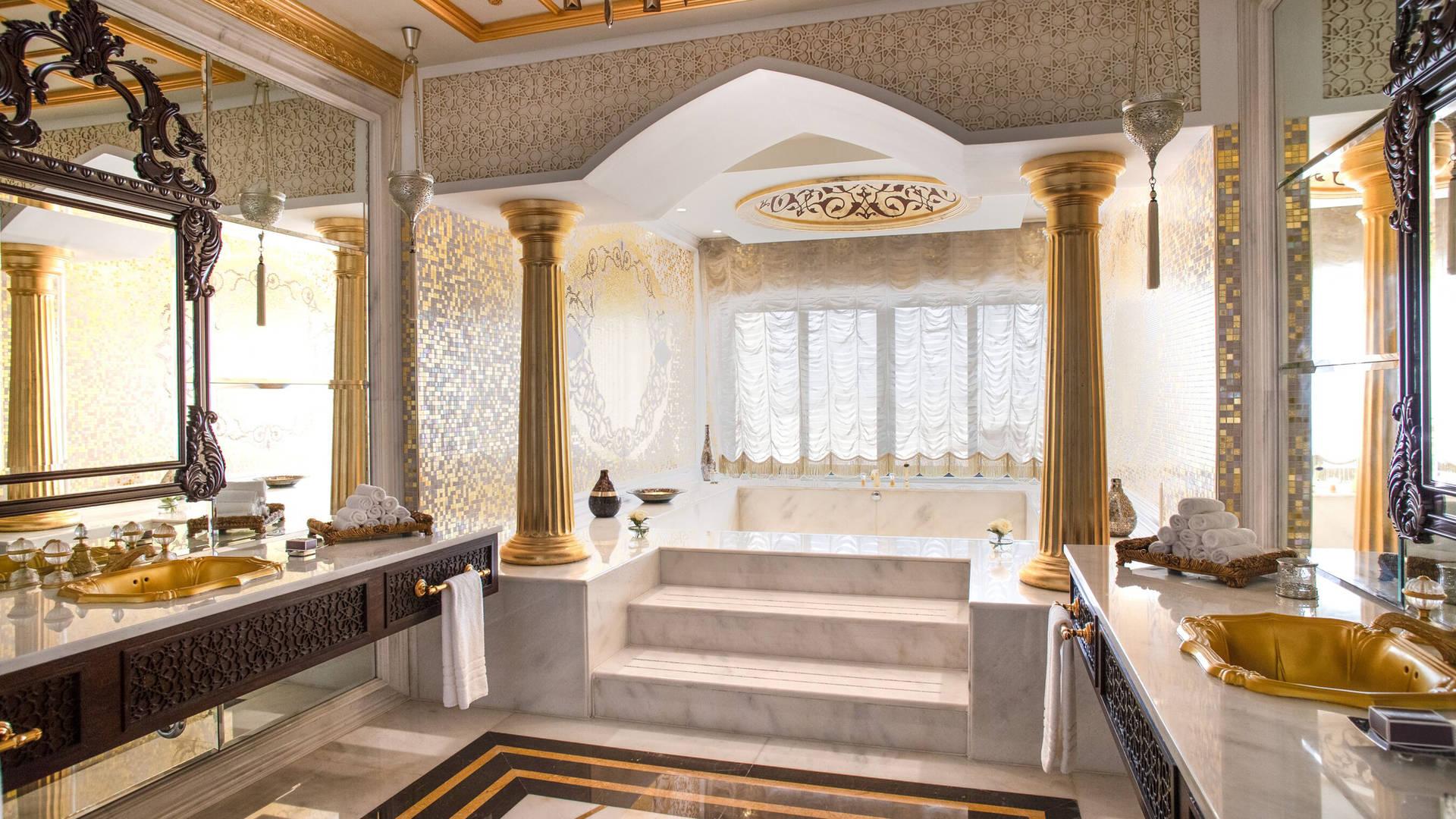 Jumeirah Zabeel Saray Grand Imperial Suite Bathroom Area