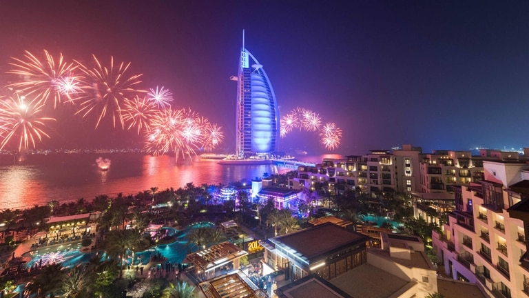 Burj Al Arab Fireworks New Year Eve