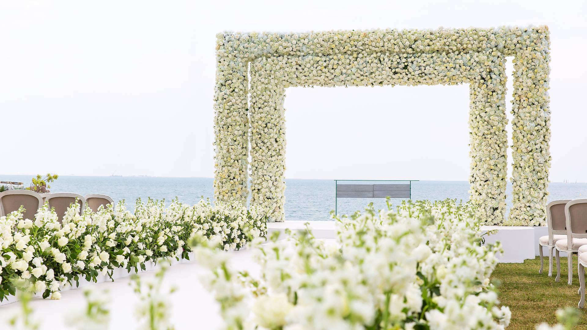 برج العرب جميرا، حديقة النخيل، حفل الزفاف