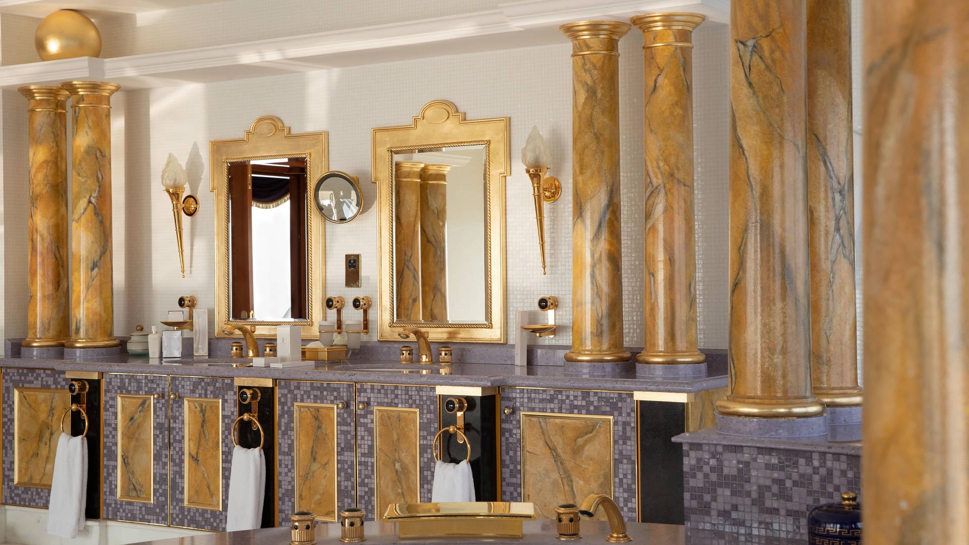 帆船酒店总统套房主浴室