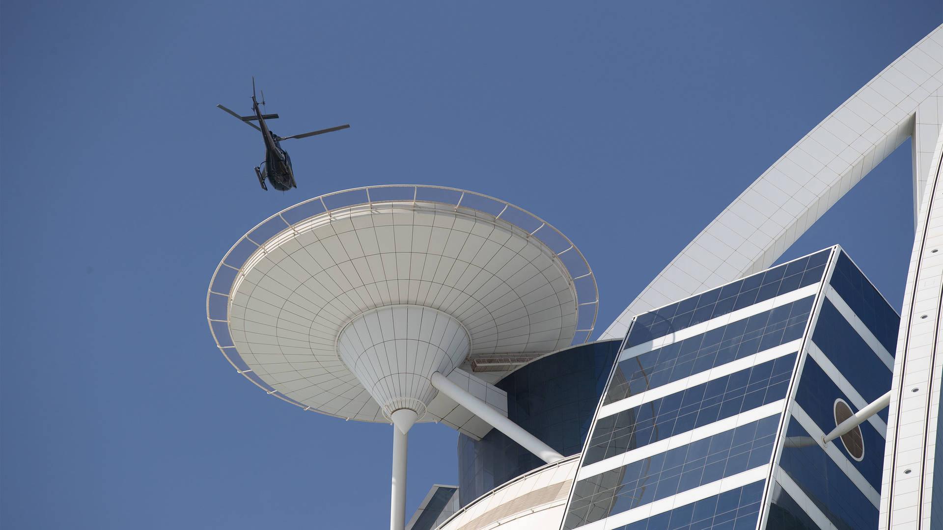 جميرا بيتش هوتيل، مهبط طائرات هليكوبتر