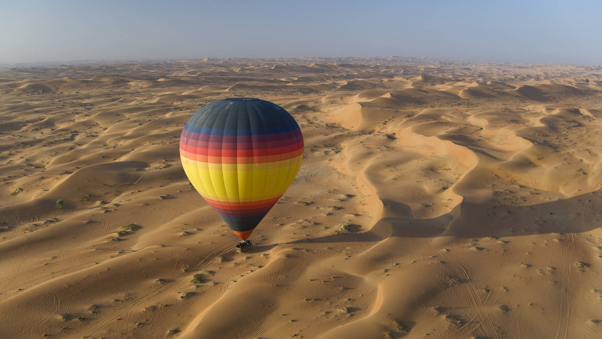 Hot air balloon ride over Dubai