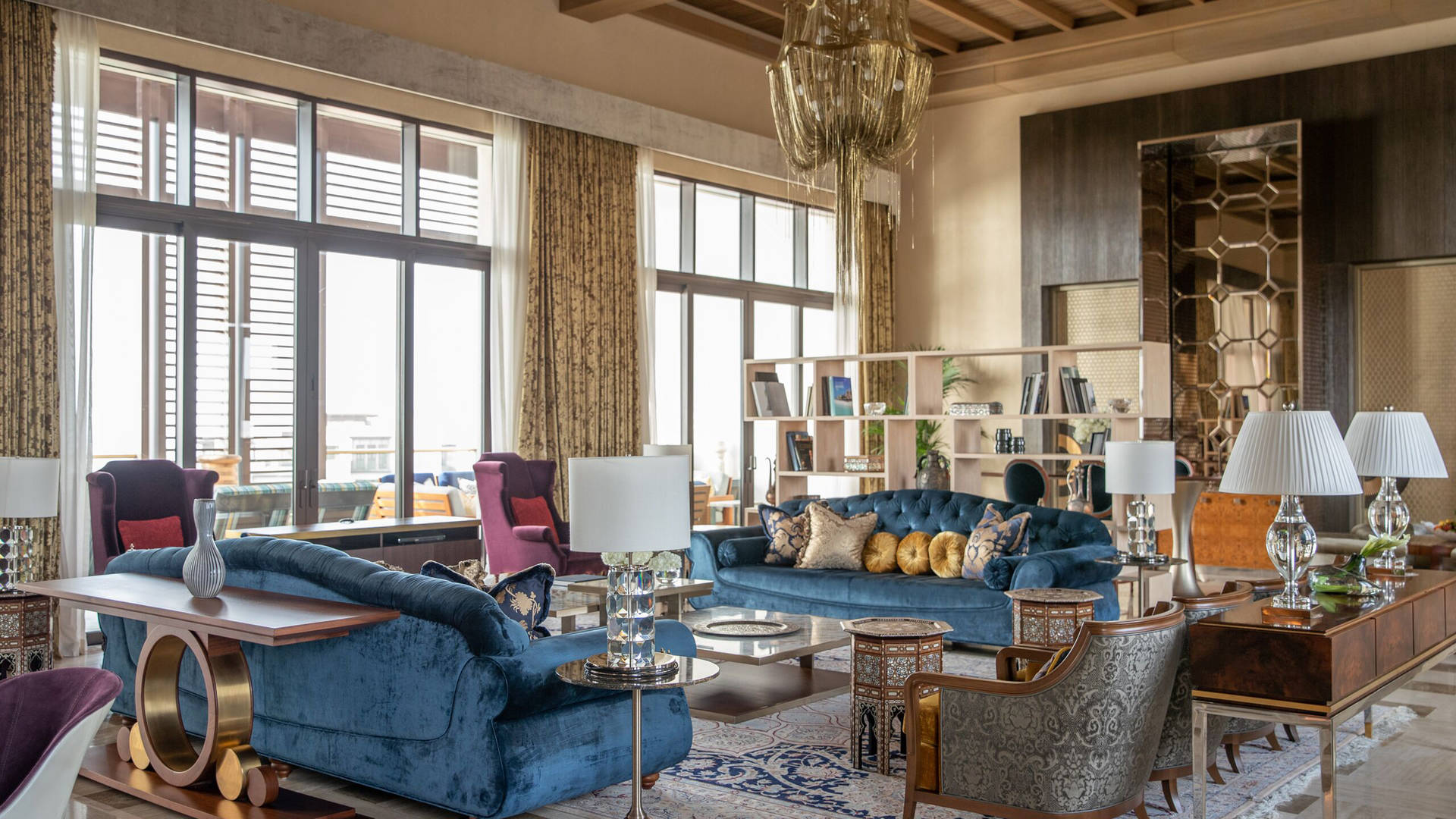 The living room of Jumeirah Al Naseem Royal Suite