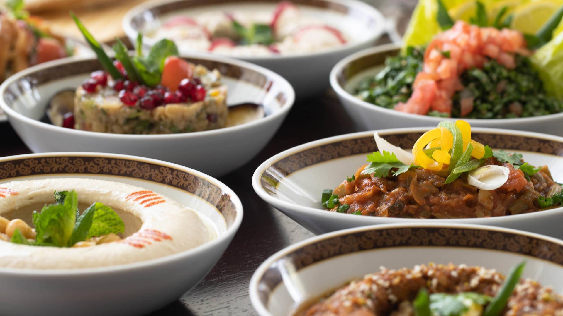 Arabesque restaurant mezze Jumeirah Baba Ghanoush