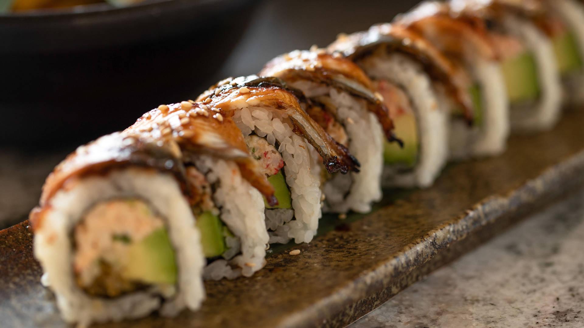 Sushi rolls at KAYTO Jumeirah Al Naseem Dubai