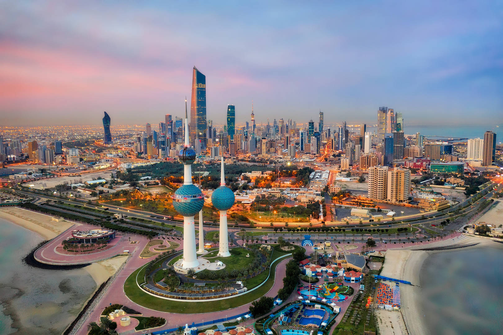 Kuwait's sparkling skyline