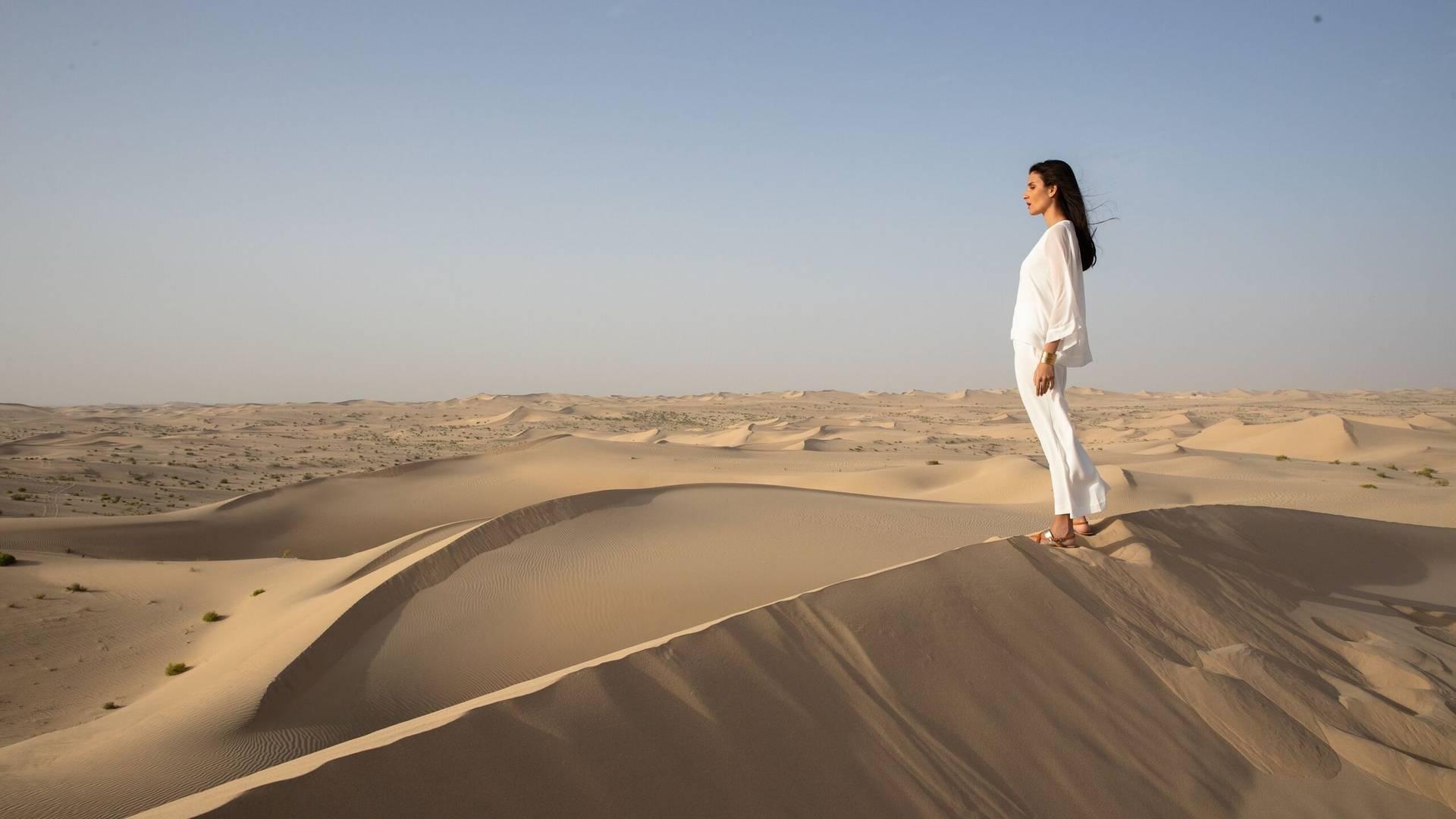Sand dunes in Dubai's desert