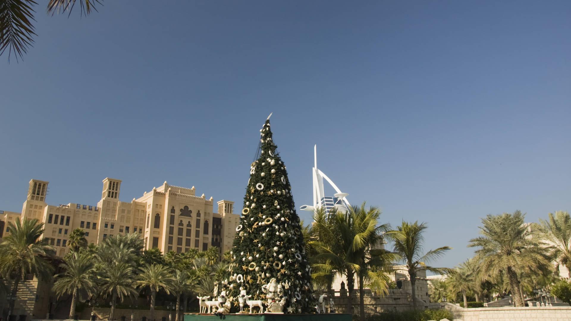 christmas tree dubai festive