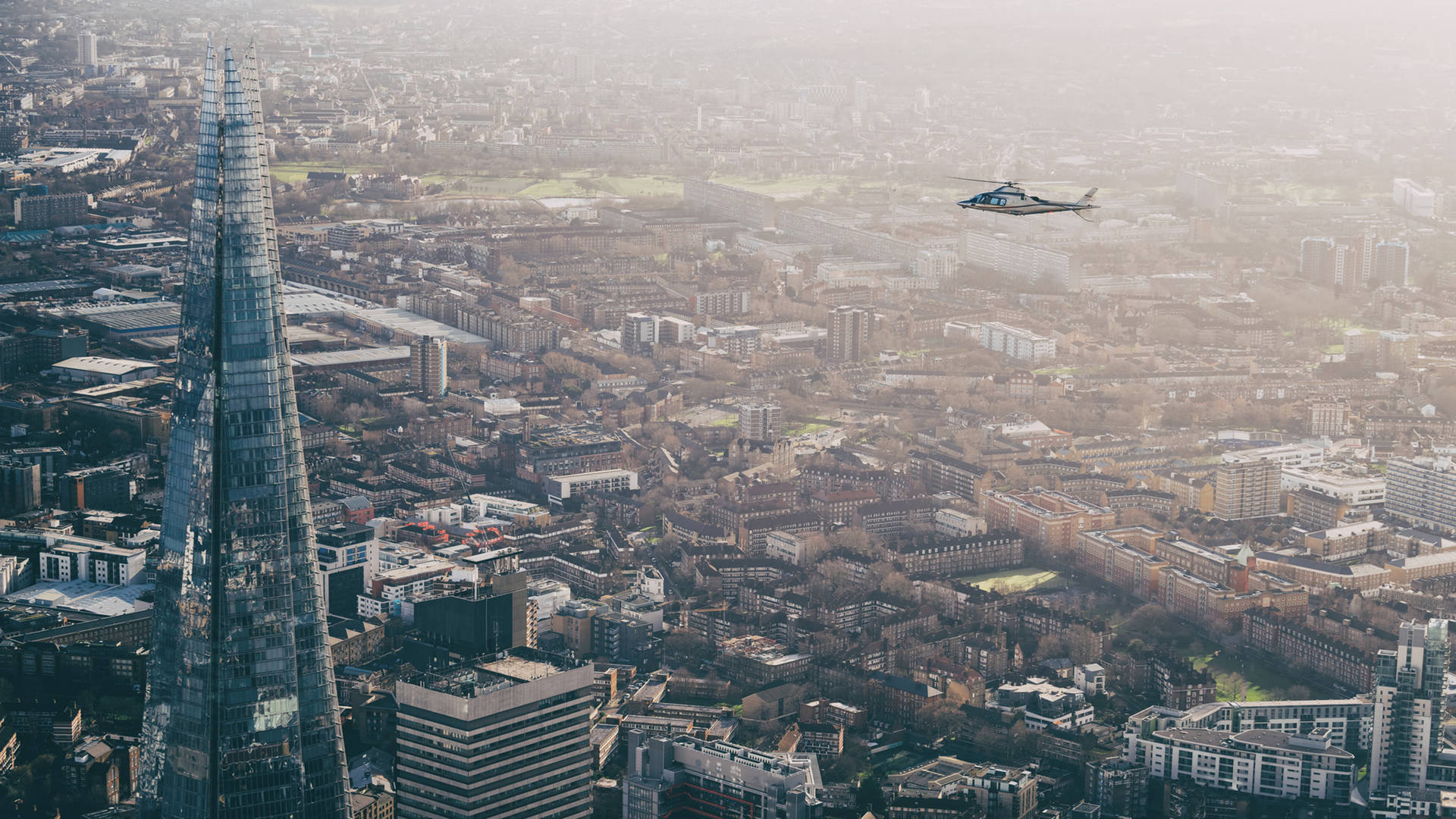 Helicopter trip over London