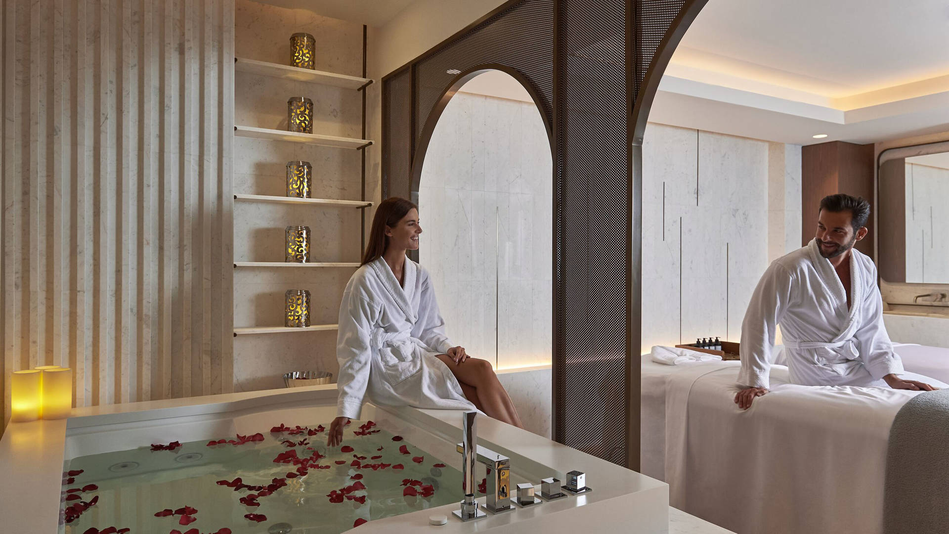 The relaxing hammam at Talise Spa