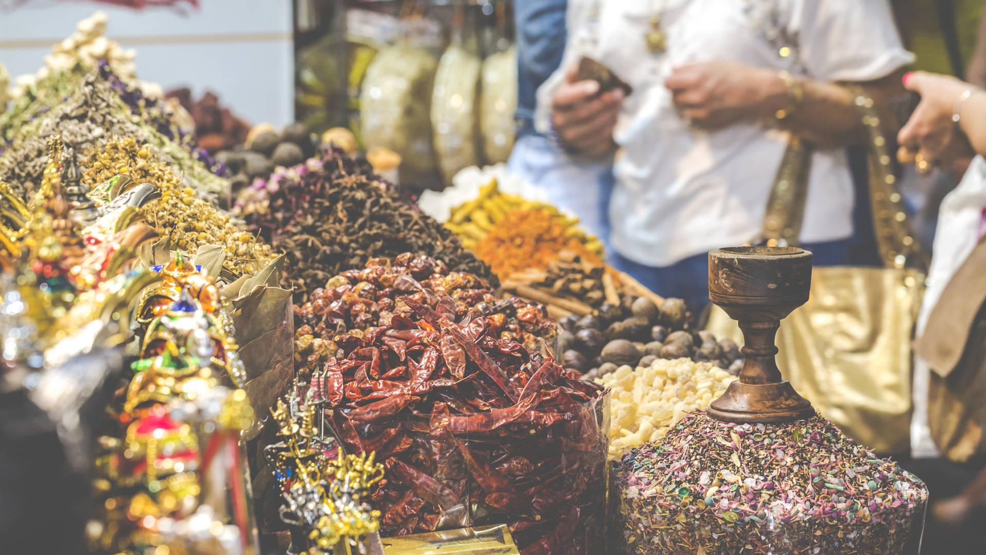 wares at Dubai souks