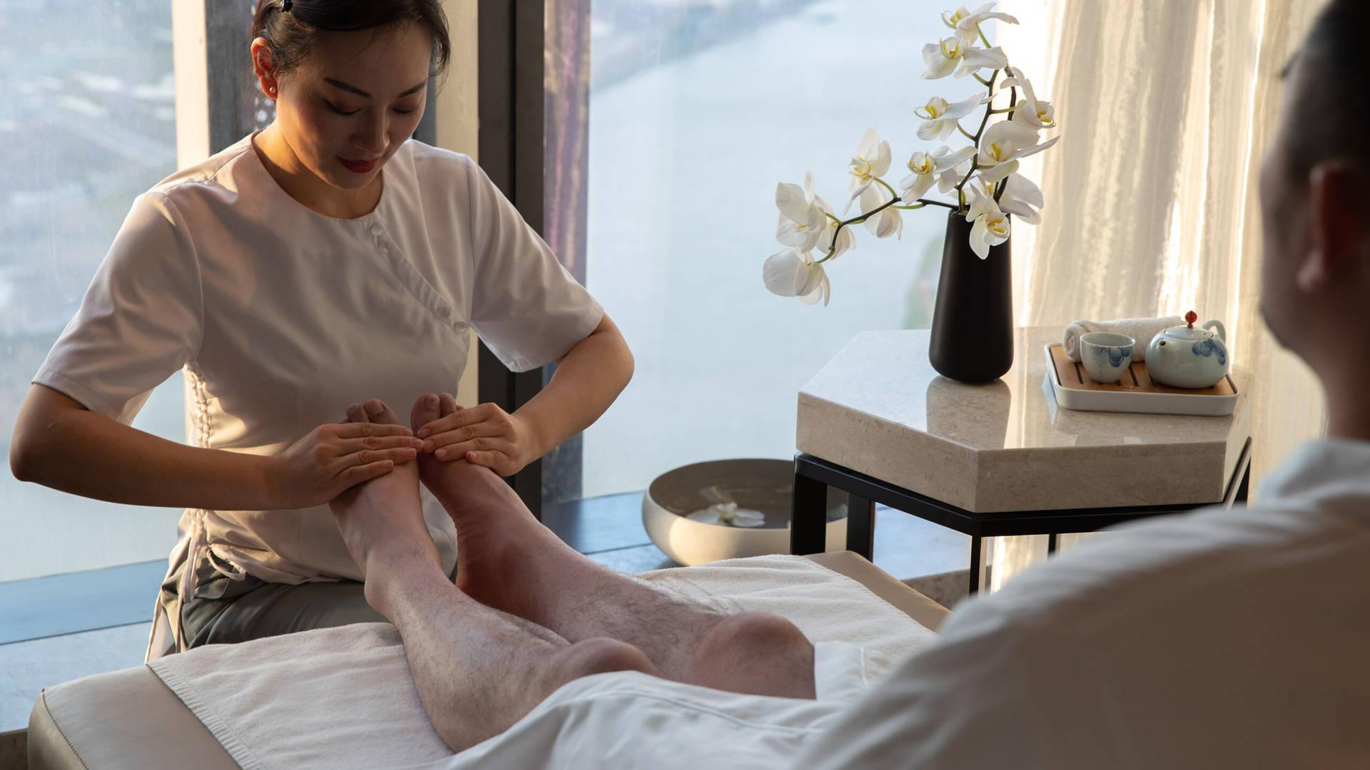 Talise Spa foot massage
