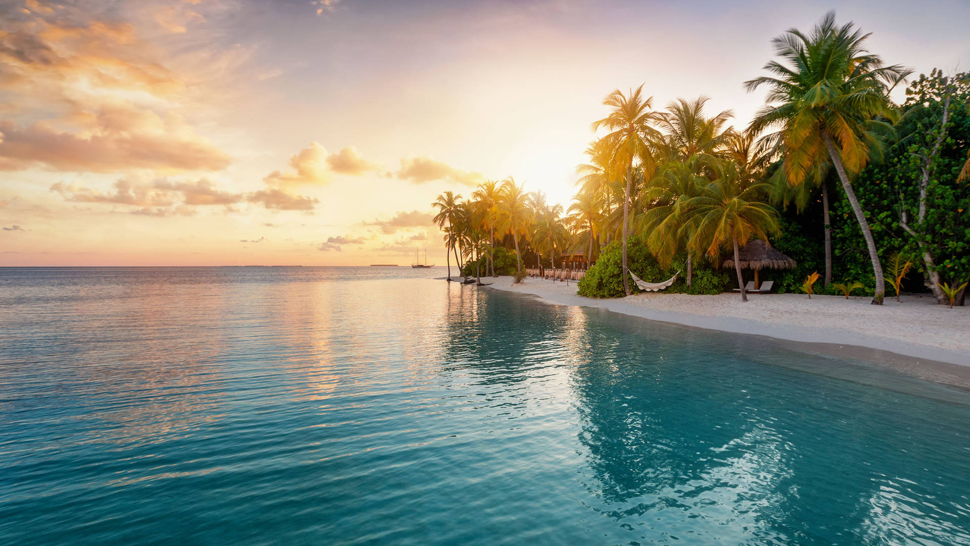 Dusk in the tropical Maldives