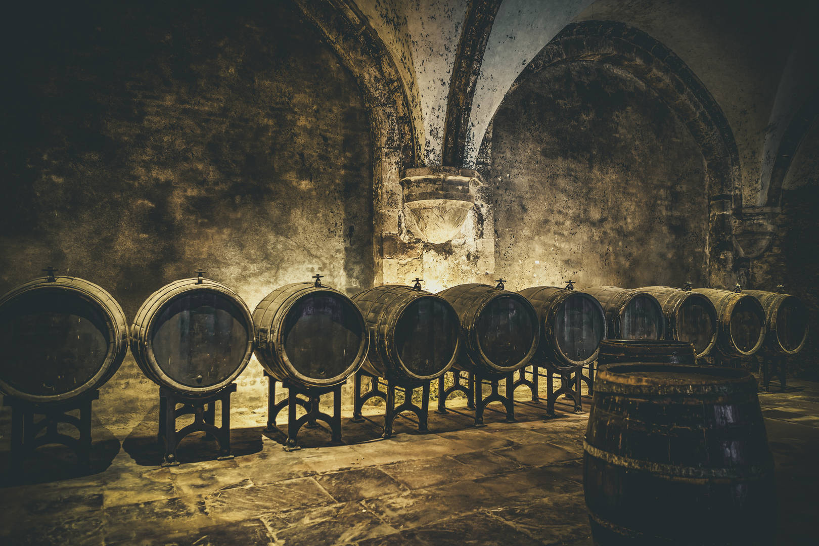 A historic wine cellar