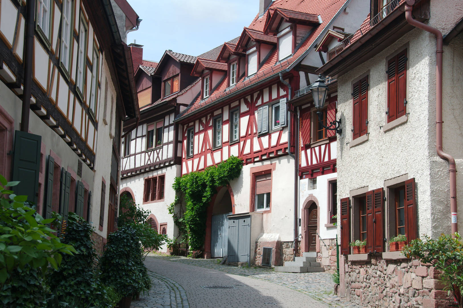 Half-timbered buildings in Rüdesheim