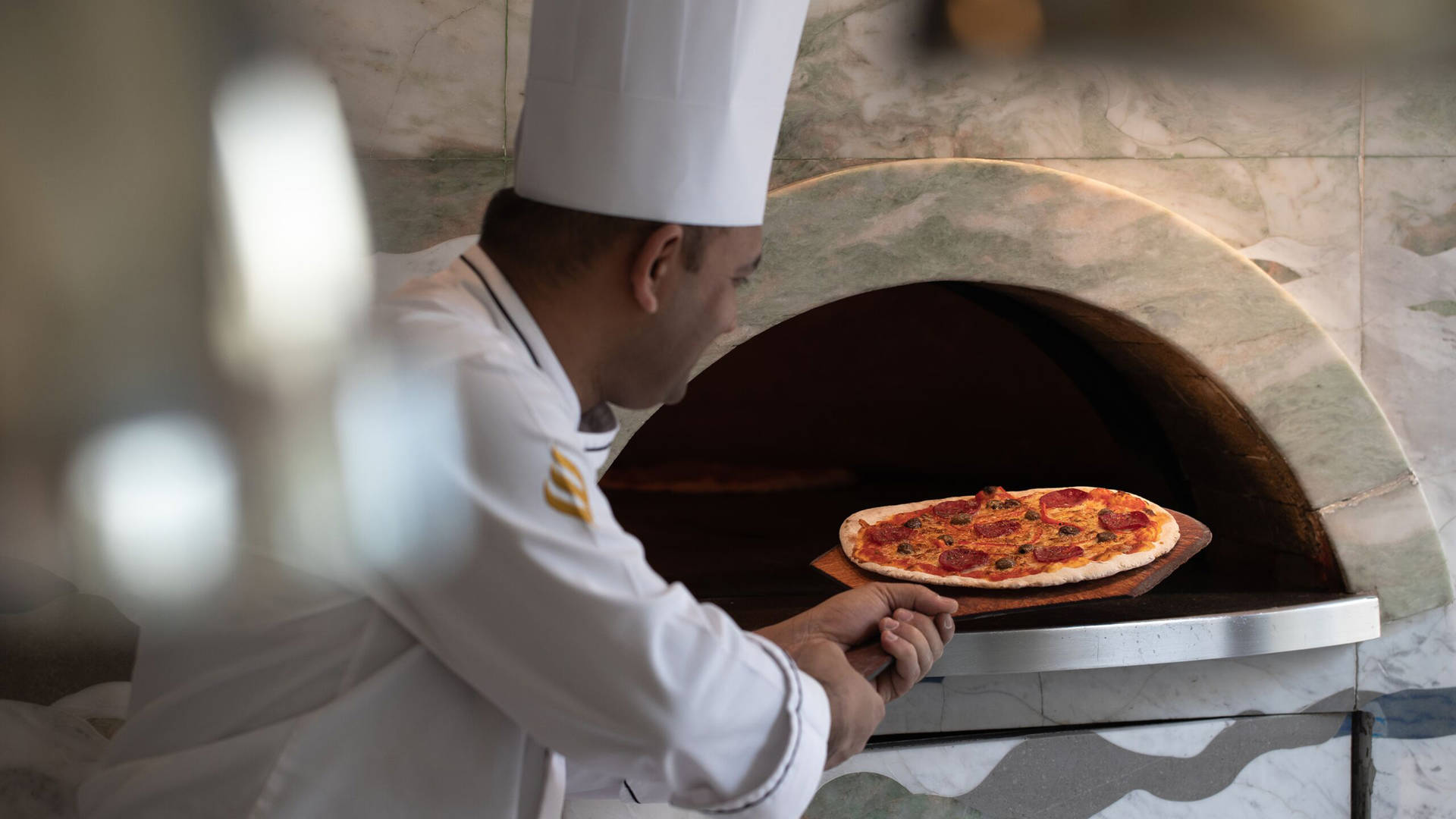 wood oven pizza Jumeirah Messilah Beach Hotel