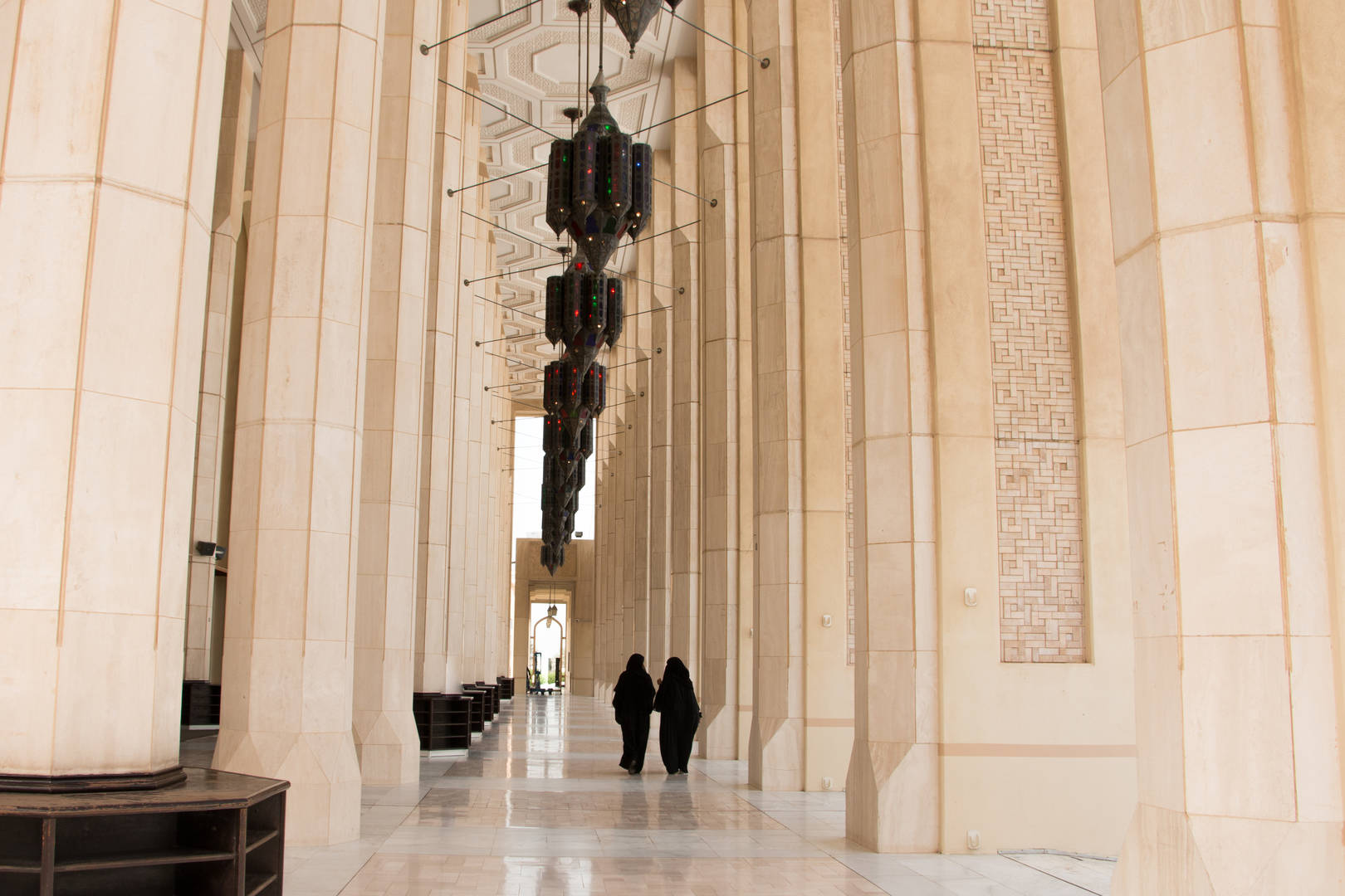 Inside the Grand Mosque in Kuwait