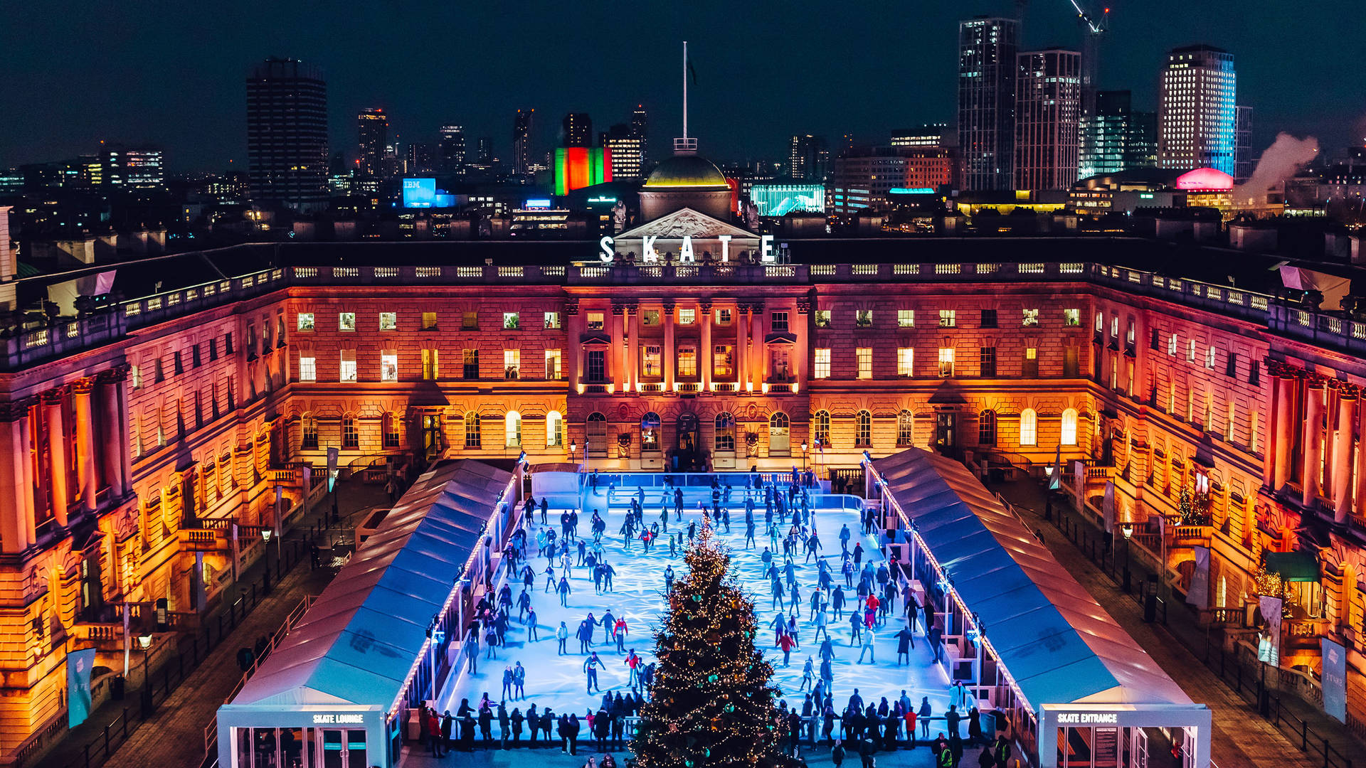 ice skating somerset house family christmas london
