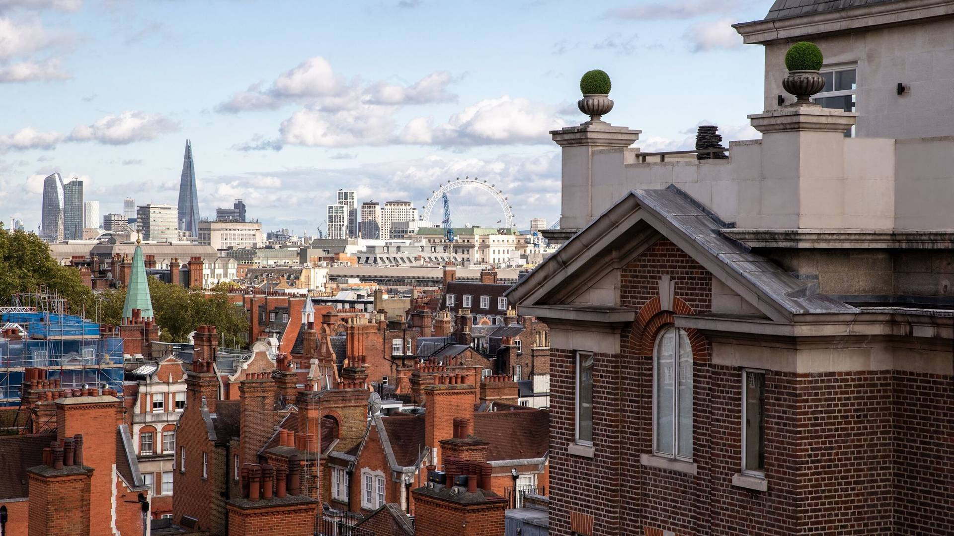 View from Grosvenor House Suites' Westminster Suite
