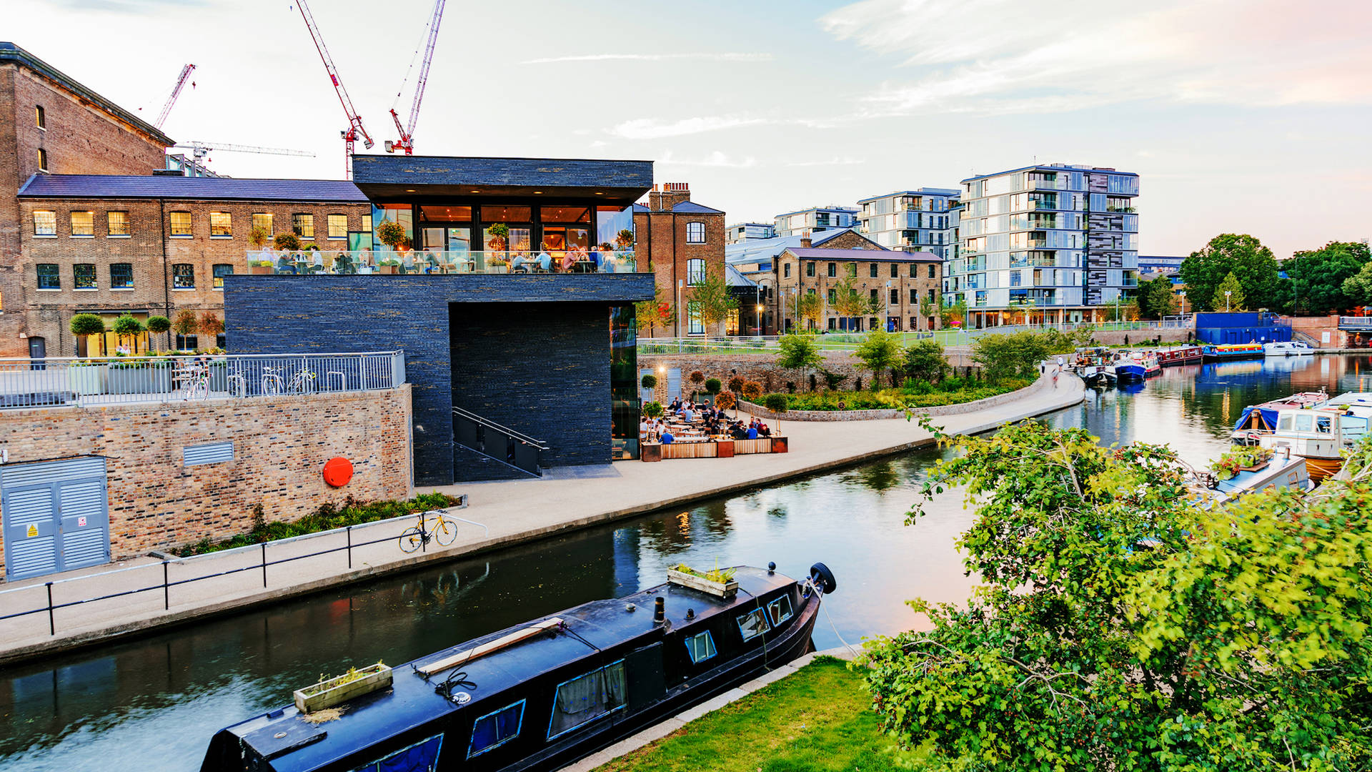 A barge on Regent's Canal