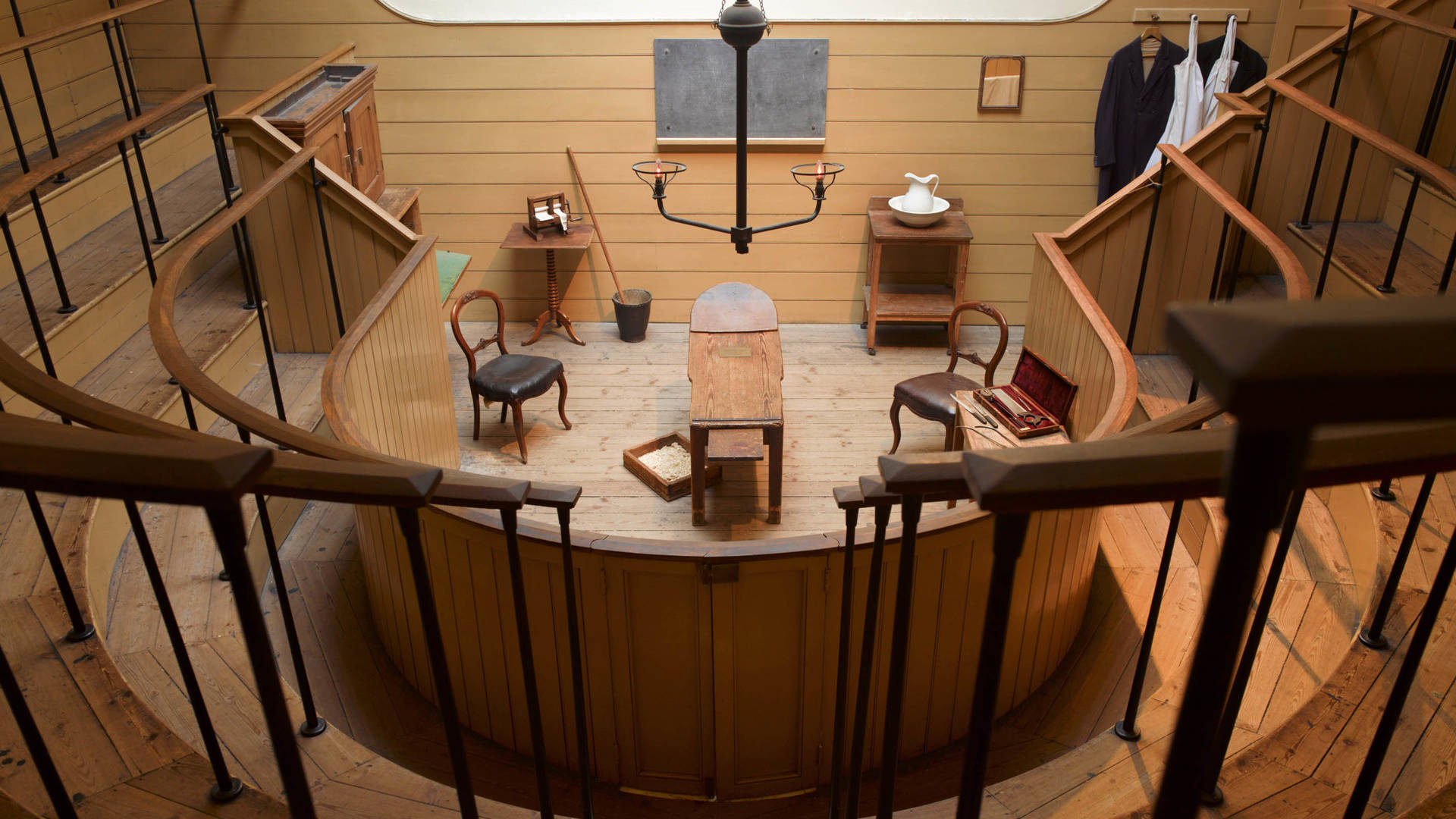 A look at the old operating theatre room in the Old Operating Theatre Museum and Herb Garret London Jumeirah